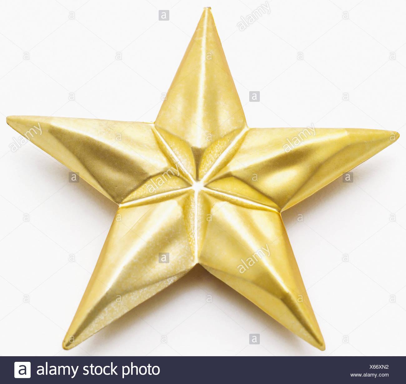 Goldener Stern Christbaumschmuck Stock Photo 279206510 Alamy