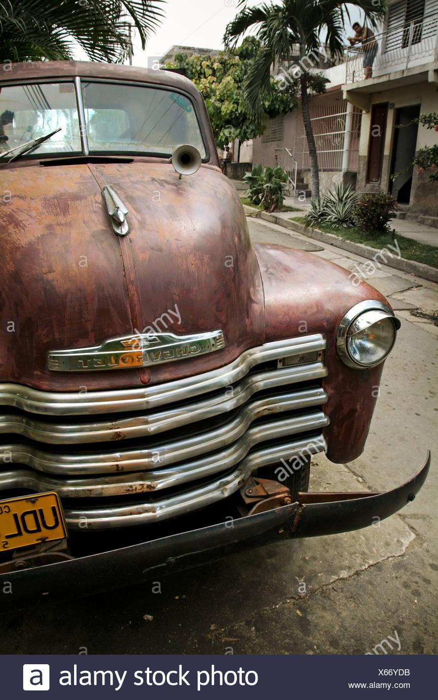 Santiago de Cuba, Cuba, Chevrolet from the 40s - Stock Image