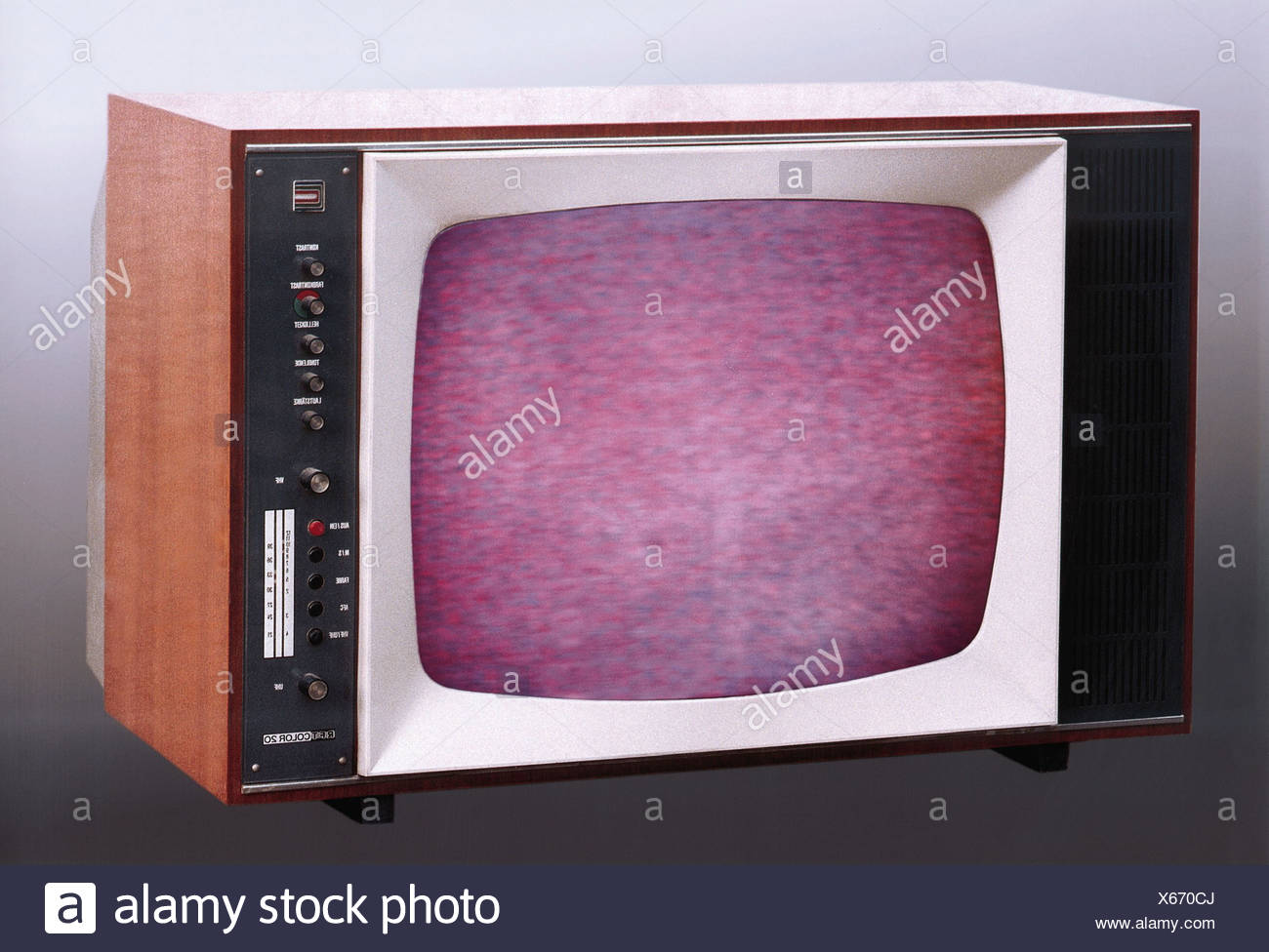 Television Set 1960s Stock Photos & Television Set 1960s