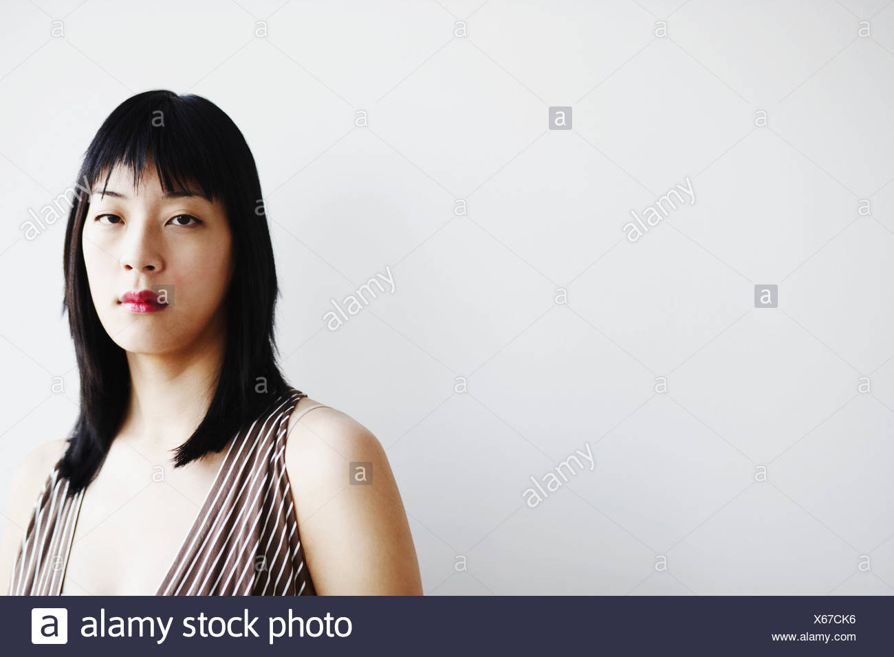 young woman thinking