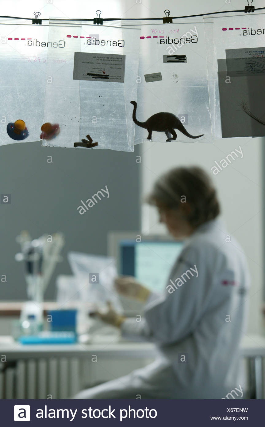 DNA Paternity test at Genedia GmbH, Dr.Hildegard Haas, Germany - Stock Image