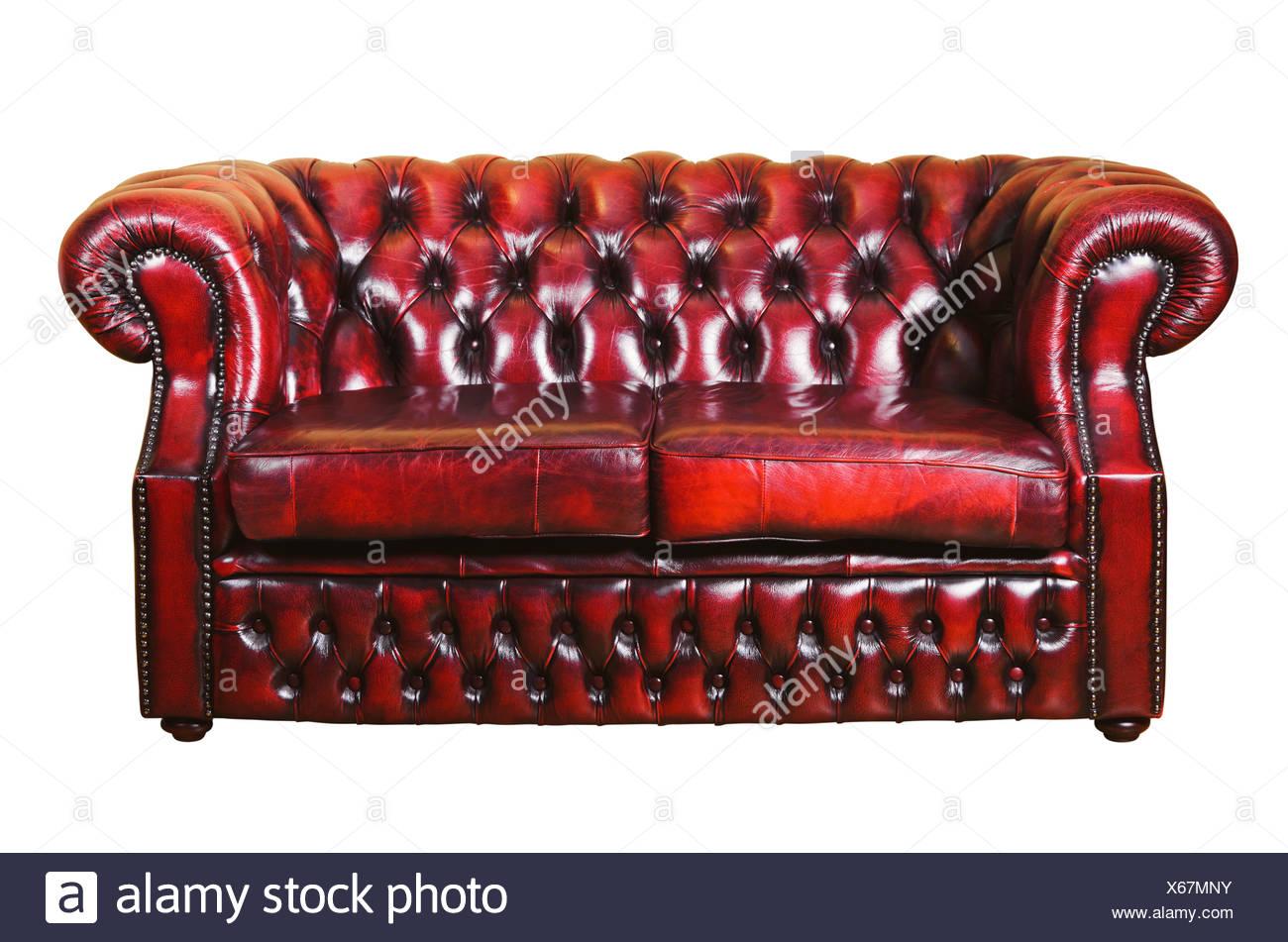 Leather Sofa - Stock Image
