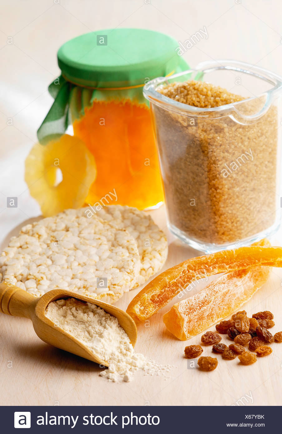 Dried fruit and cereal composition - Stock Image