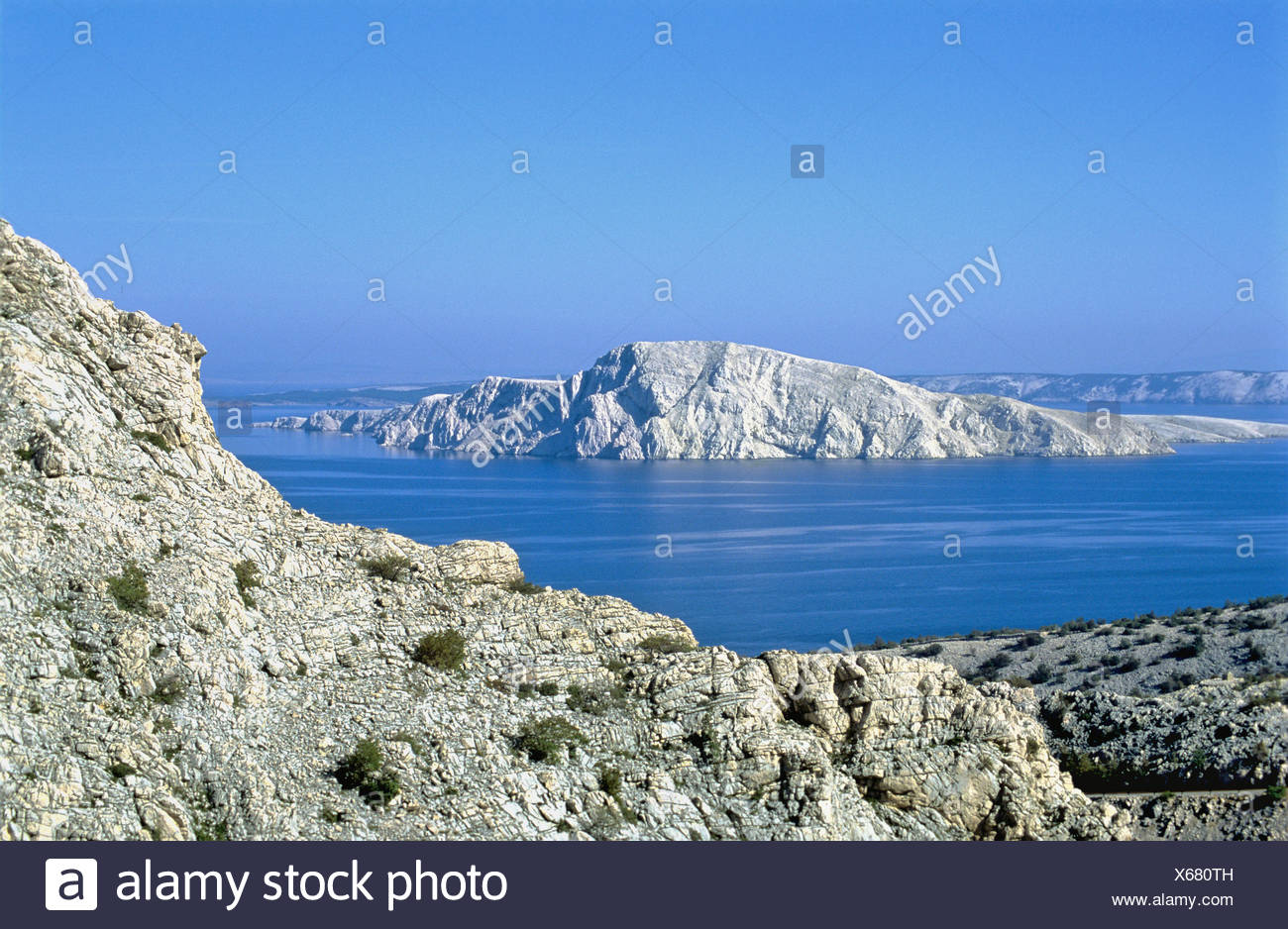 Croatia Europe Kvarner Bay Goli Otok island during Tito communist government island concentration camp politica - Stock Image