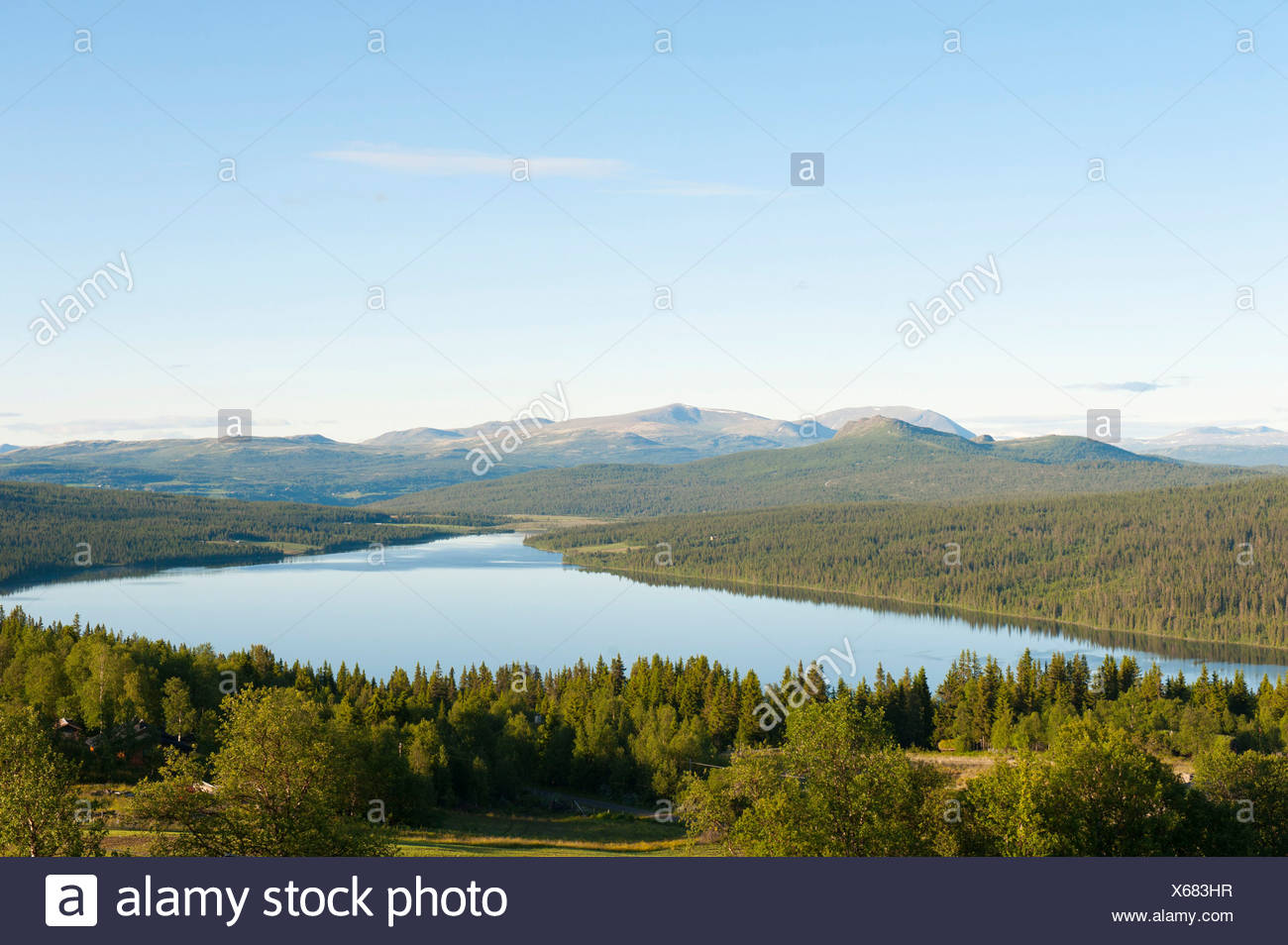Lake Gålå, Oppland, Norway, Scandinavia, Northern Europe, Europe - Stock Image