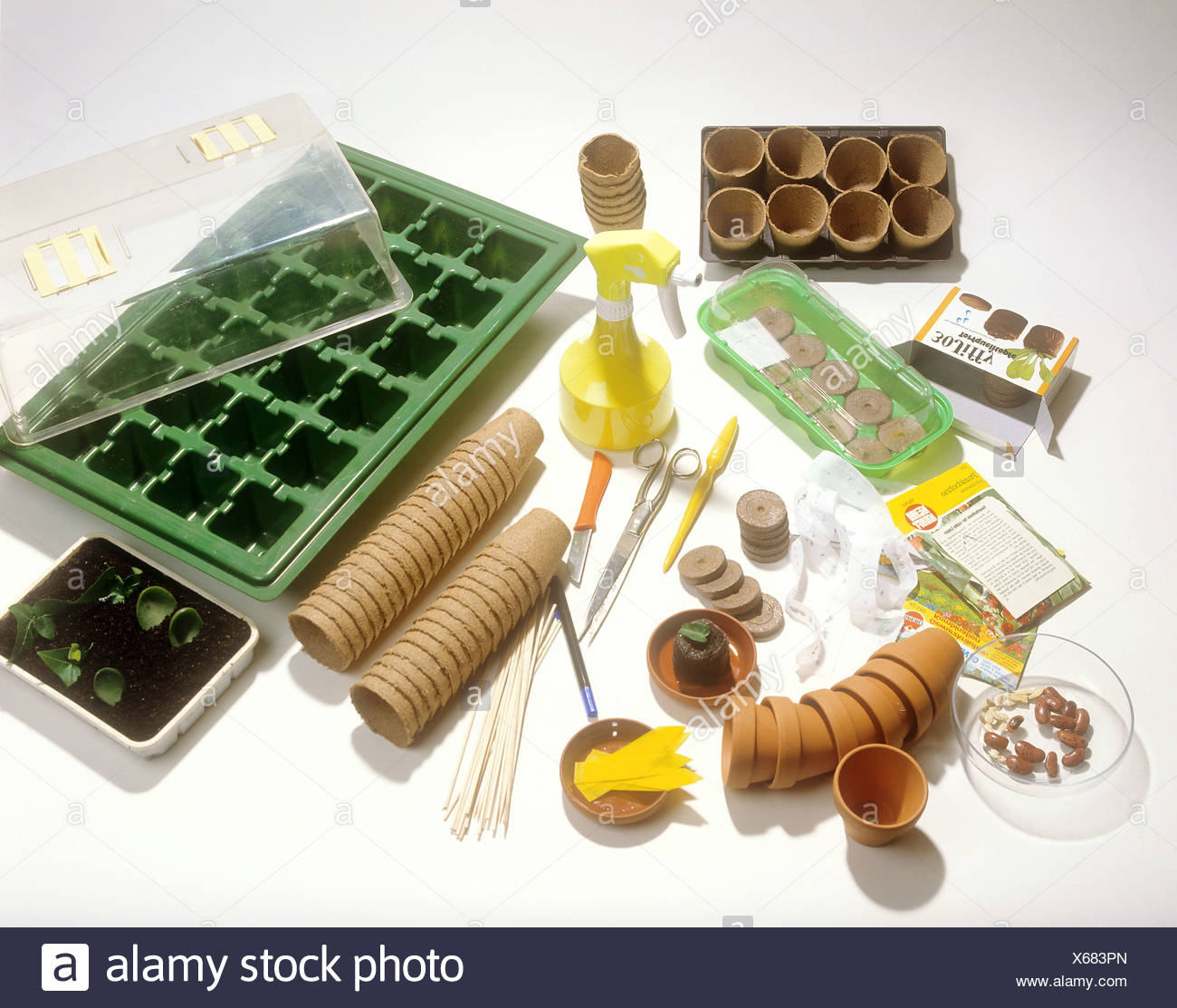 accessory for cultivating plants - Stock Image