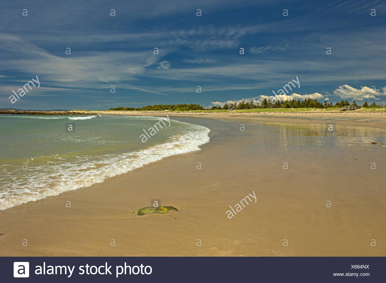 Martinique Beach Provincial Park, Nova Scotia, Canada Stock Photo
