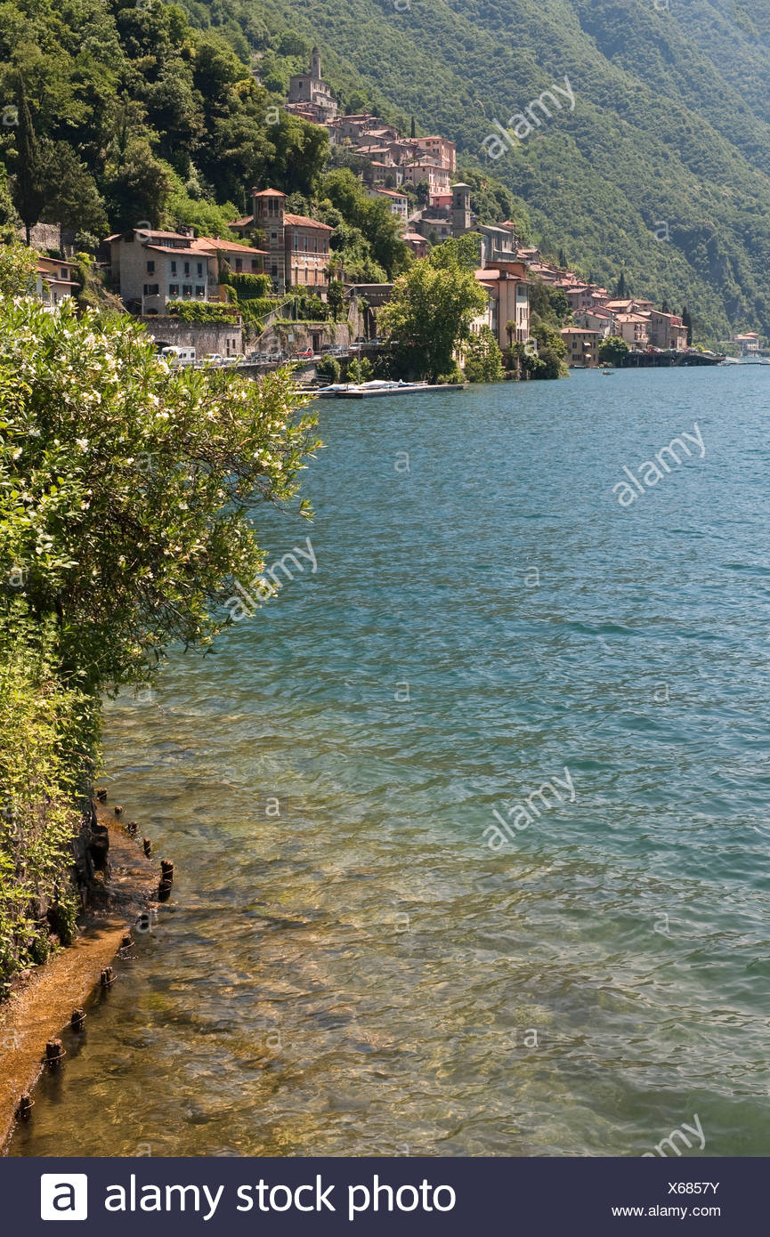 Lake Lugano, Lago di Lugano, Ticino, Switzerland, Europe Stock Photo