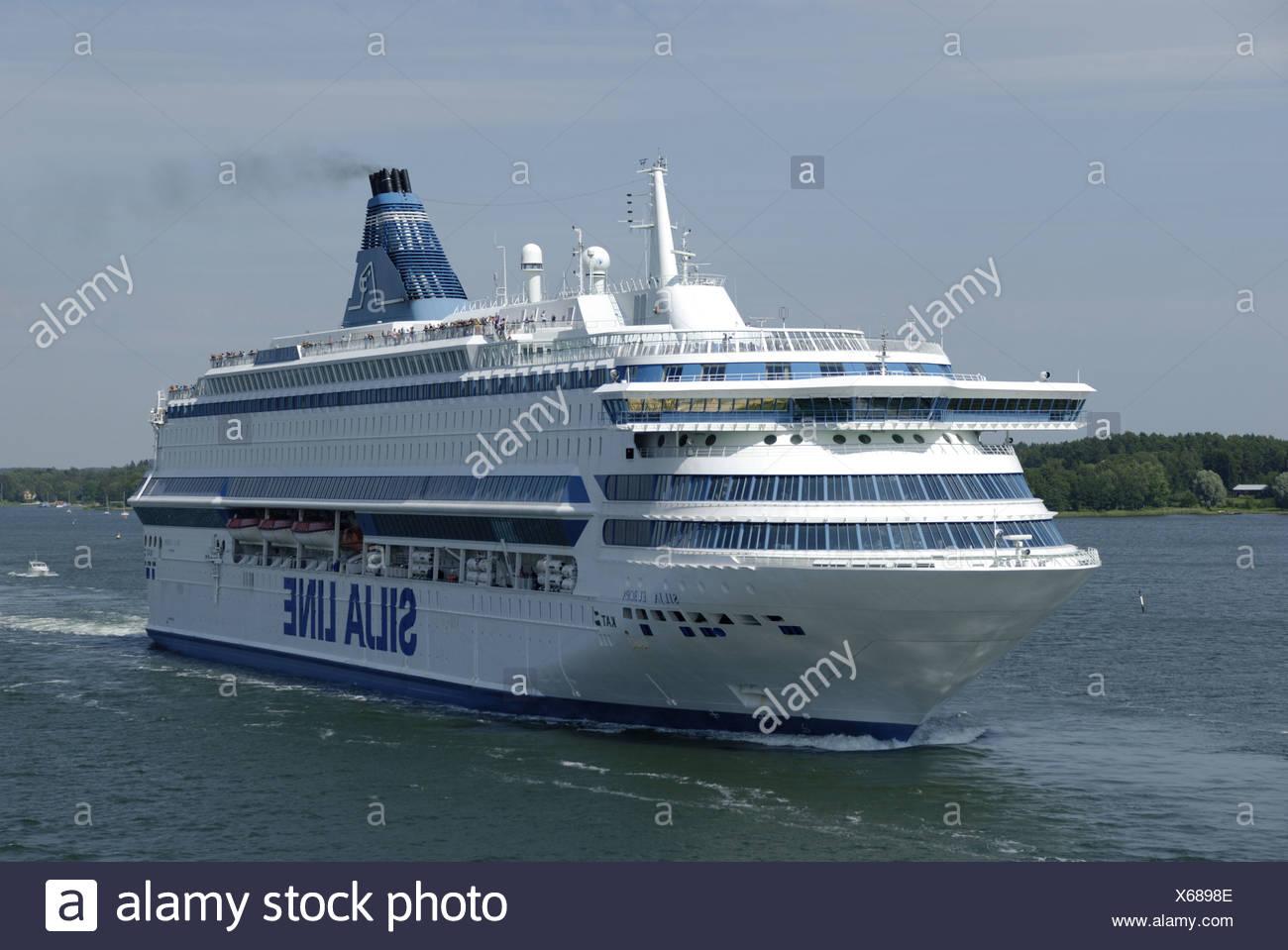 MS Silja Europa in Mariehamn - Stock Image