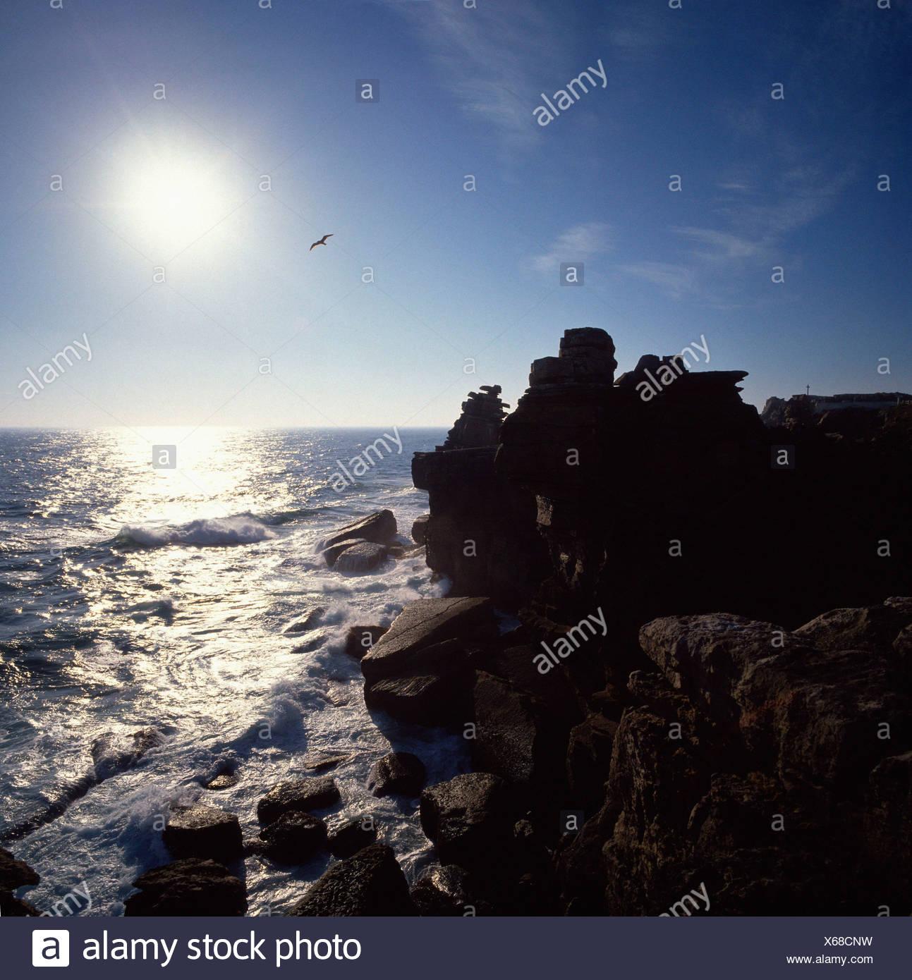Rocky coast / Peniche - Stock Image