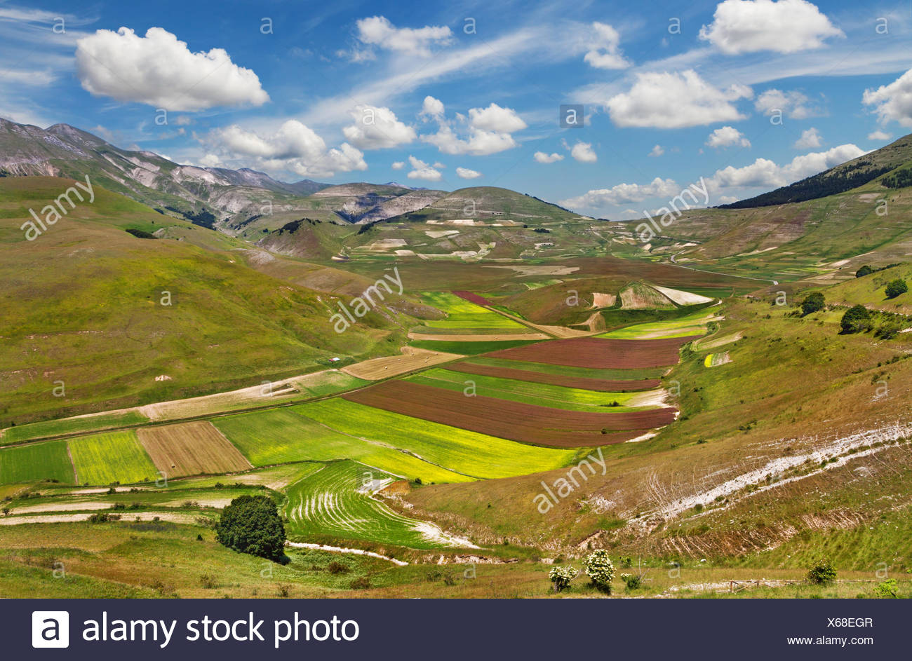 Natural park of Monti Sibillini. Italy - Stock Image