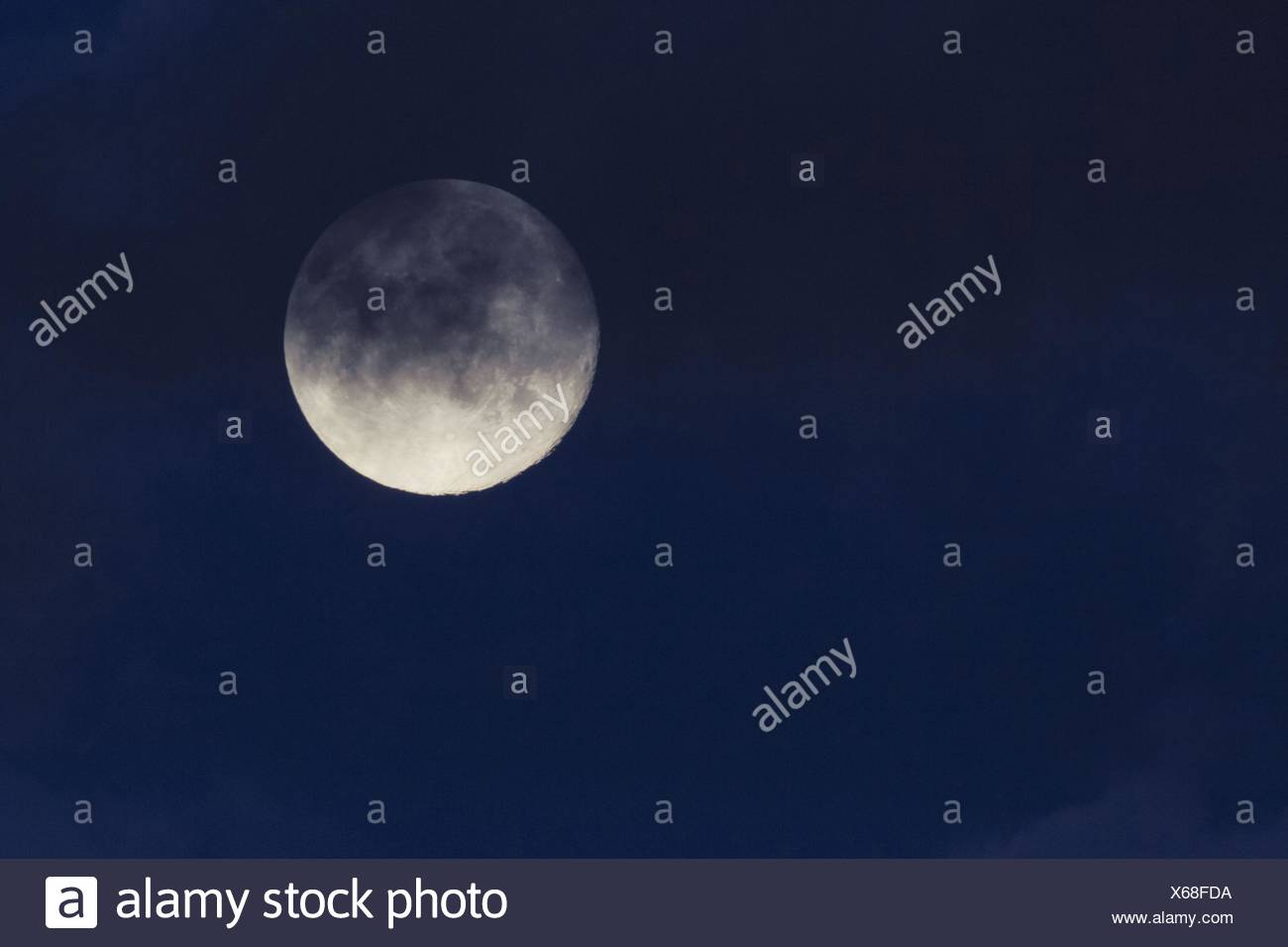 night of a full moon, United Kingdom, Scotland - Stock Image