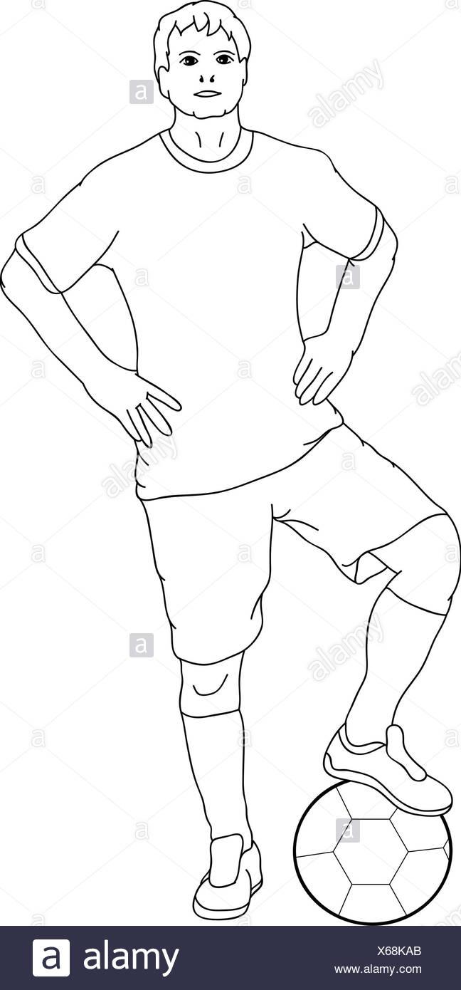 Illustration cartoon sport sports soccer football draw