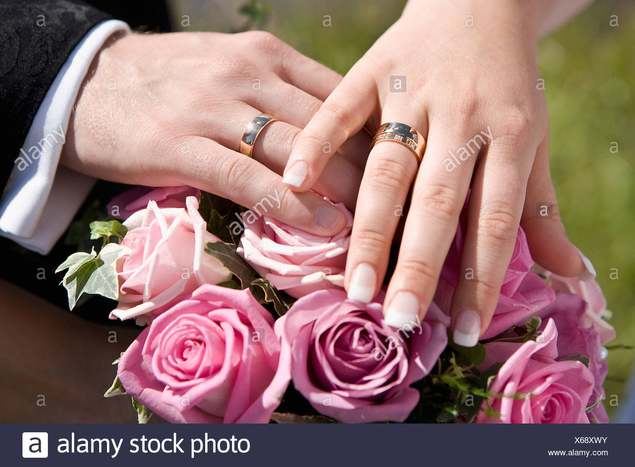 Two Wedding Rings Purple Flower Stock Photos & Two Wedding Rings ...