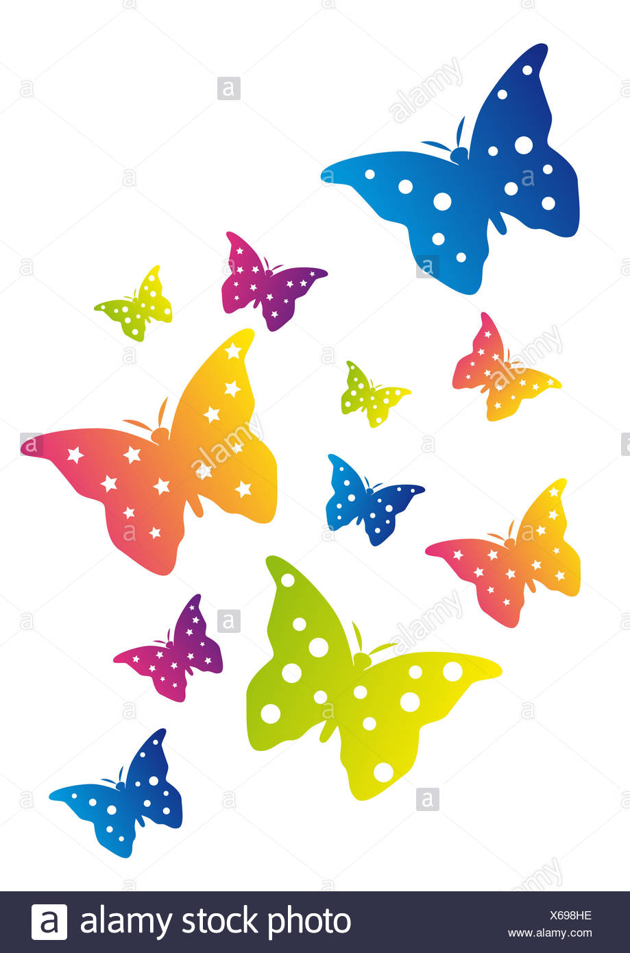 Free Vector | Hand drawn swarm butterfly background