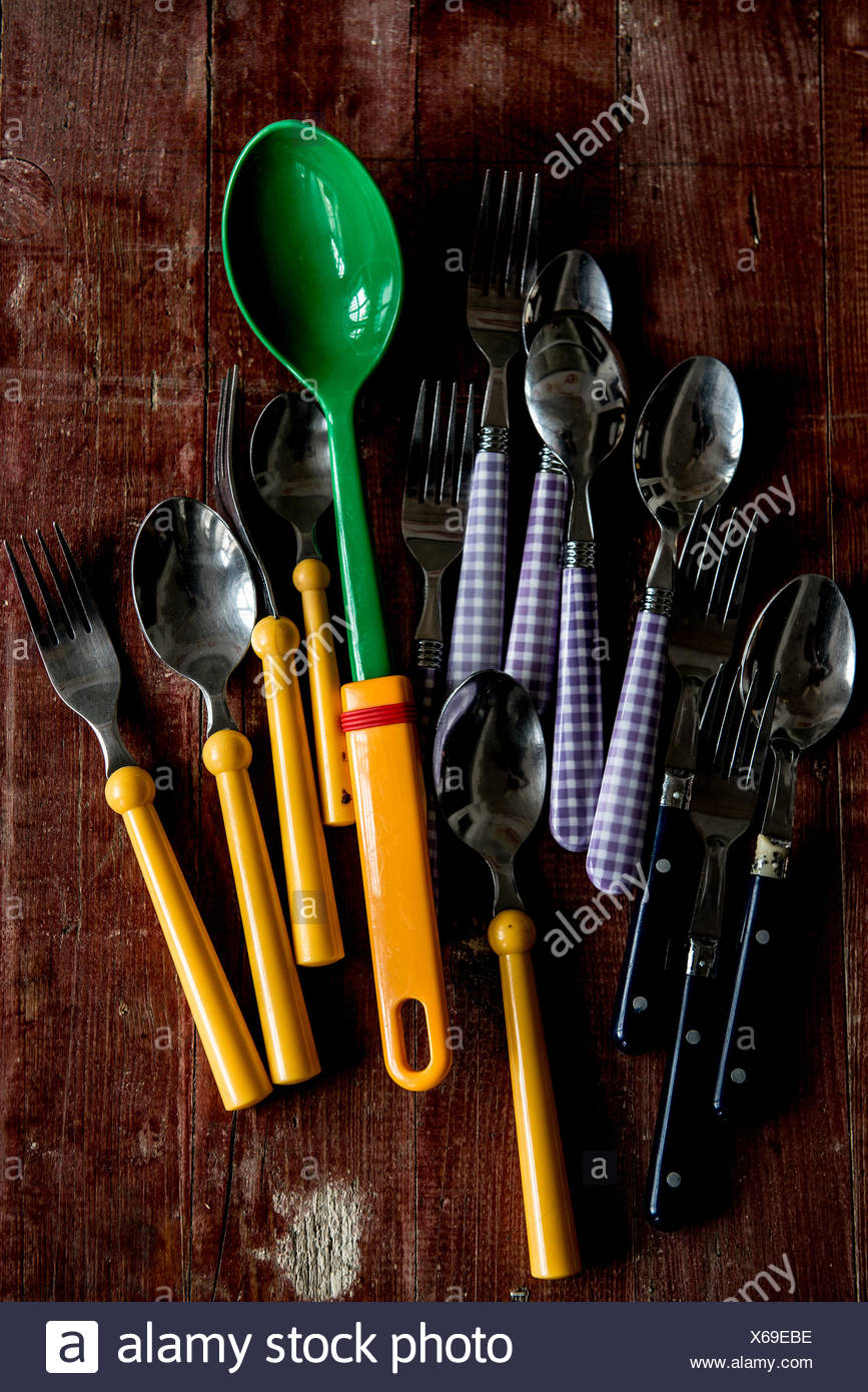 knifes and forks - Stock Image