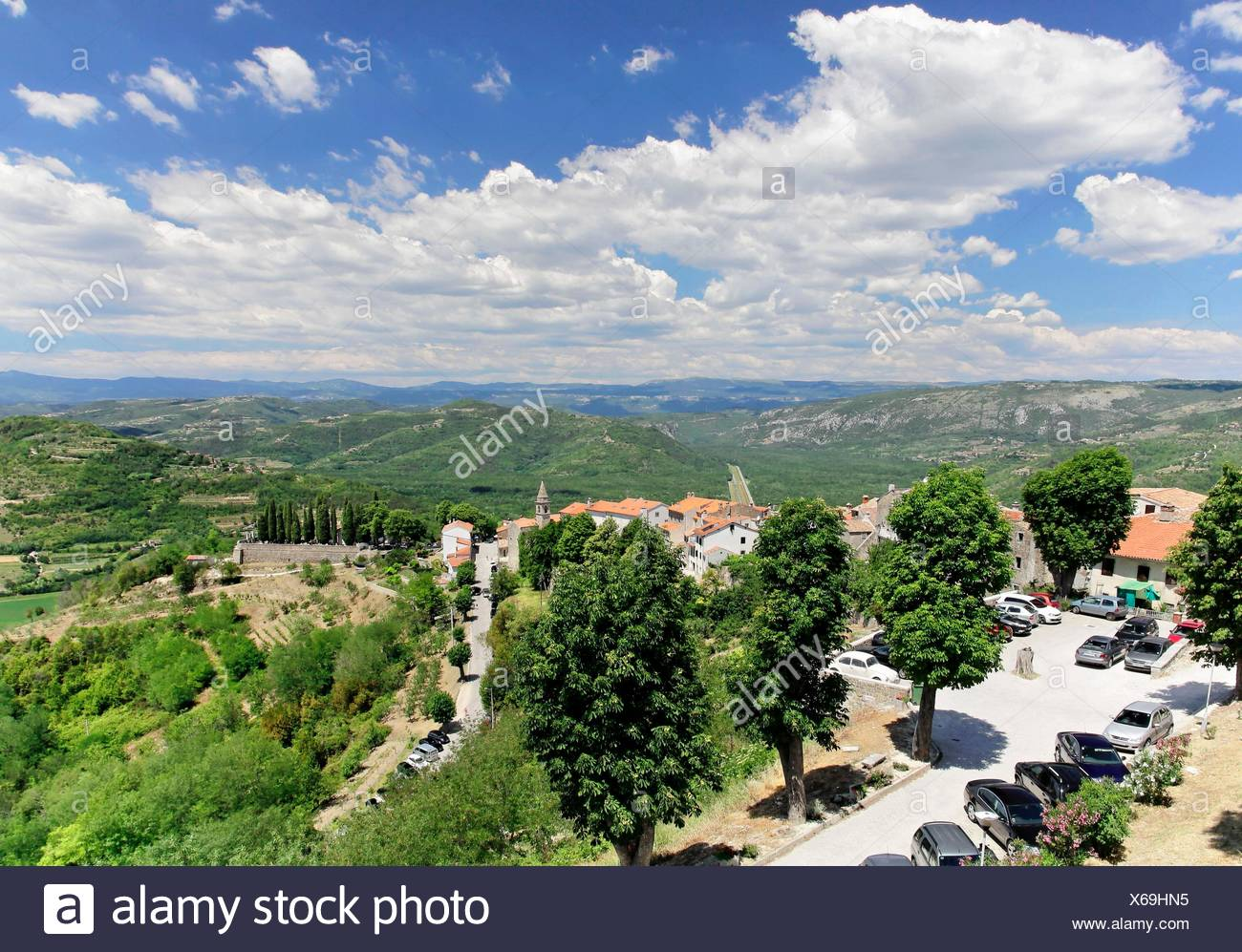 geography / travel, Croatia, Istria, Motovun, Additional-Rights-Clearance-Info-Not-Available - Stock Image