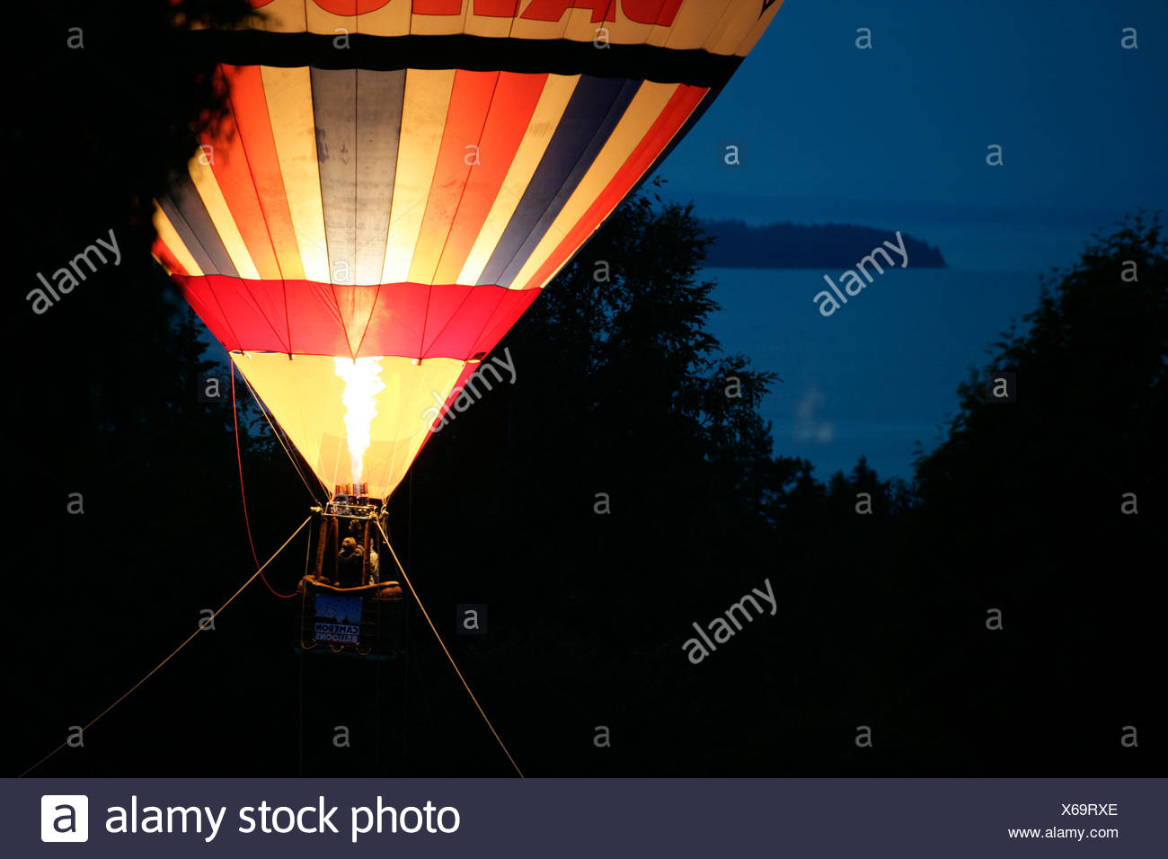 A balloon in the air, Dalarna, Sweden. - Stock Image