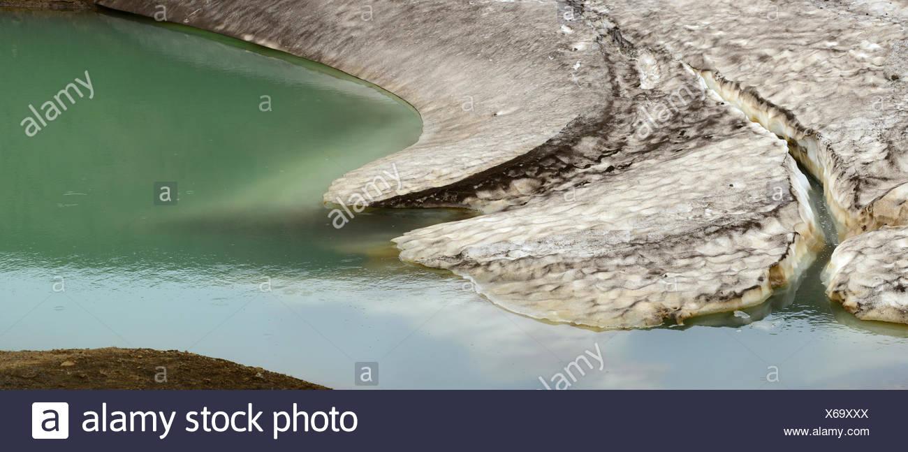 Melting ice in Iceland. - Stock Image