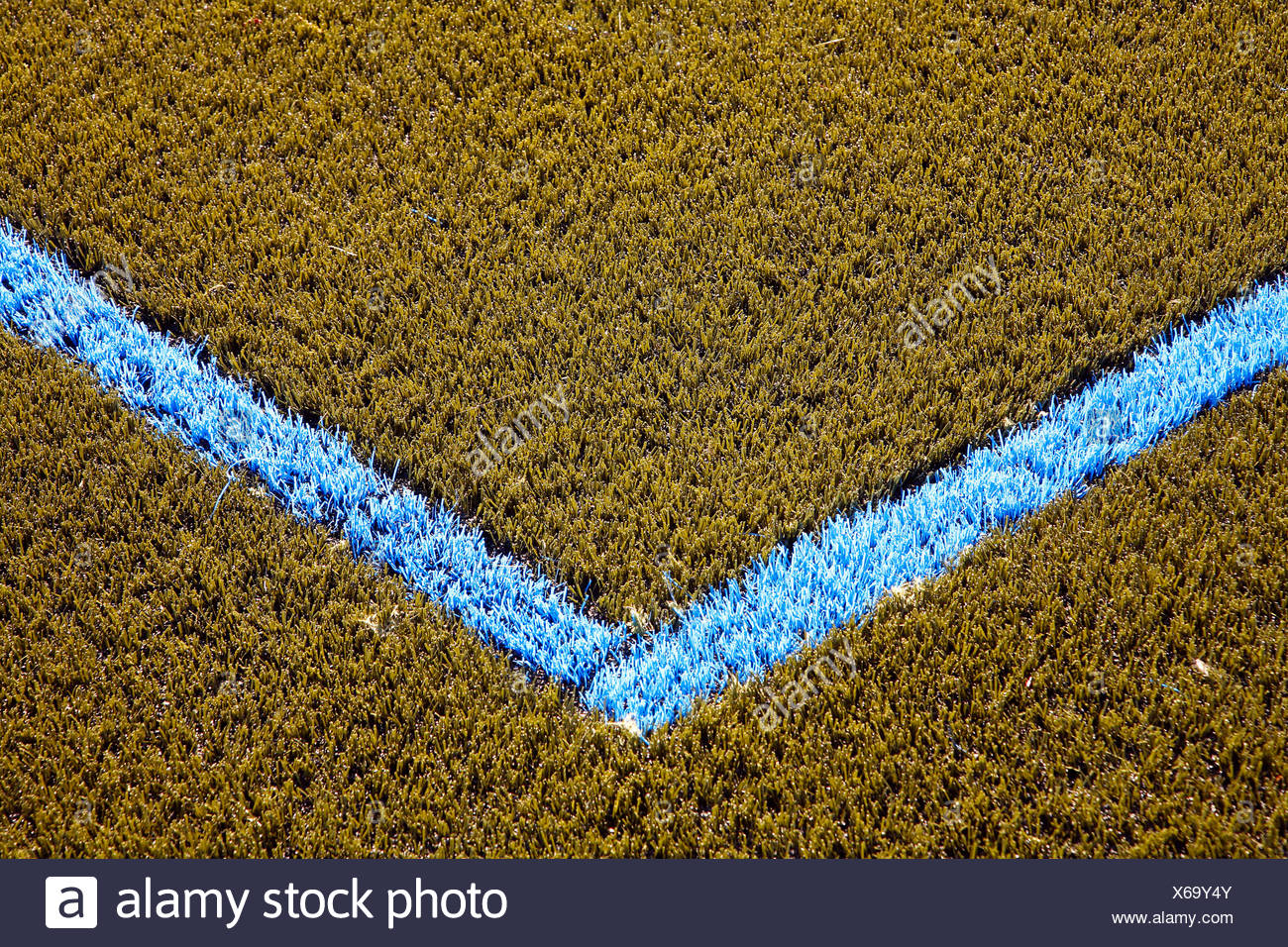 Pitch with artificial turf - Stock Image