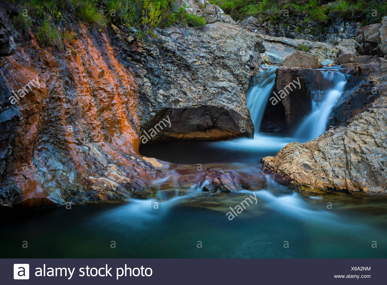 Scotland, Hebrides archipelago, Isle of Skye, Fairy pools - Stock Image