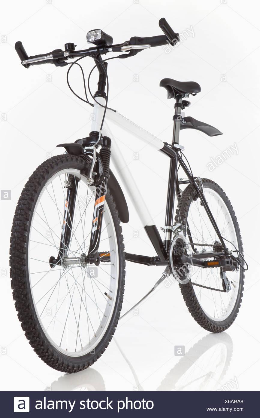 Mountain bike on white background - Stock Image