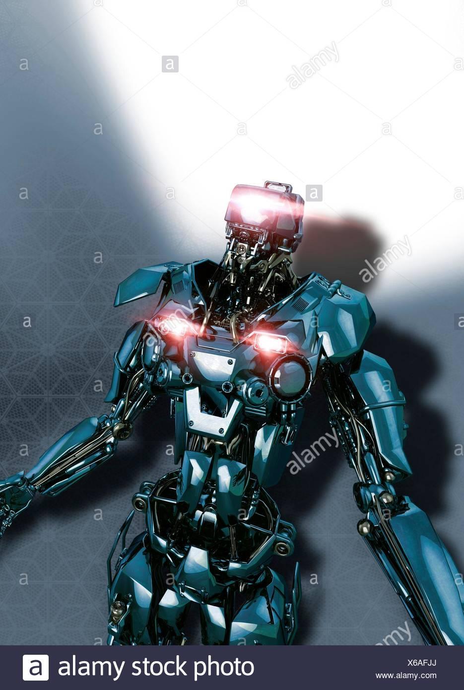 Robot, illustration. - Stock Image