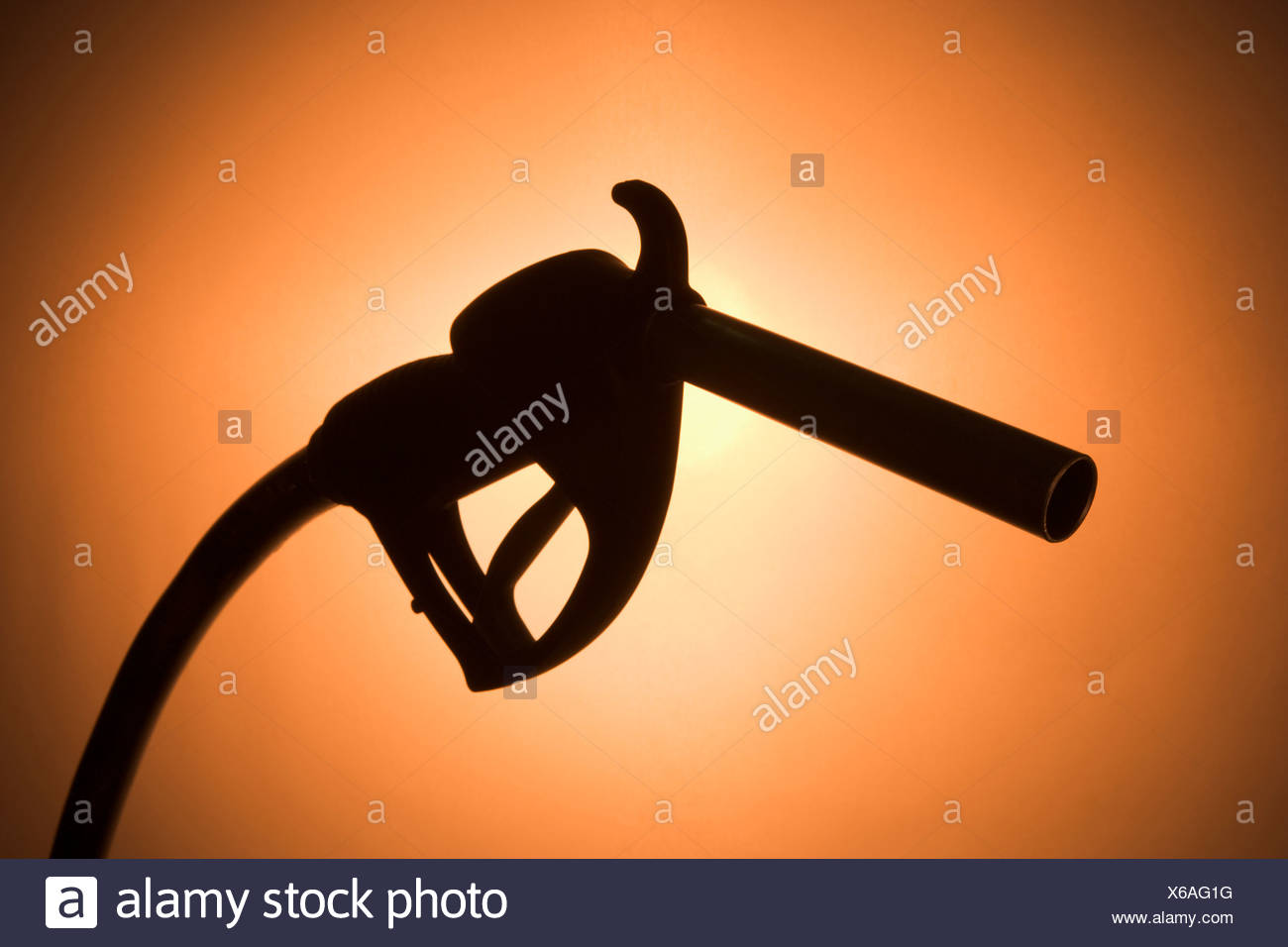 Silhouette Of A Fuel Pump - Stock Image