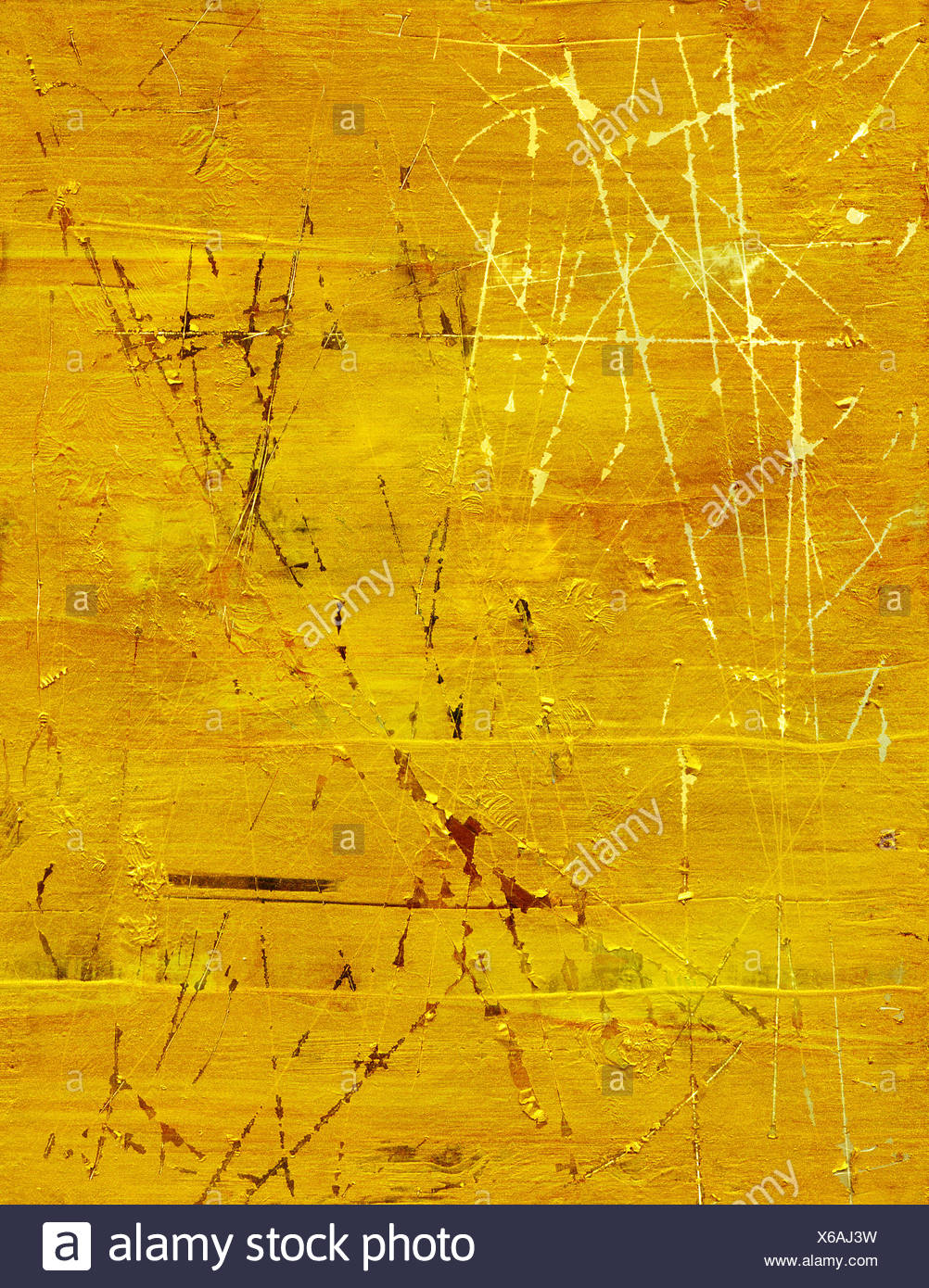 scratched gold texture - Stock Image