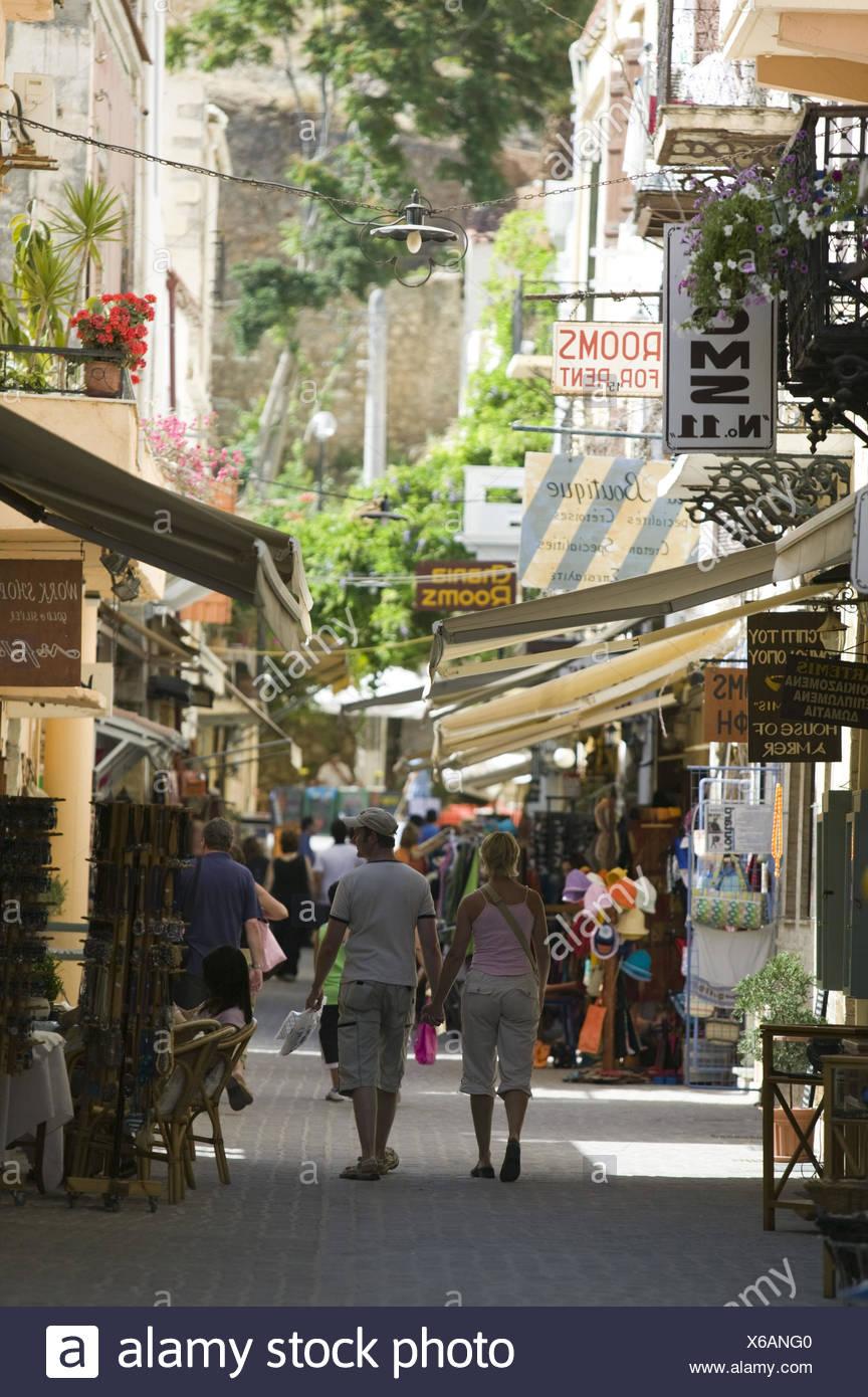Griechenland, Kreta, Chania, Altstadt, Touristen, - Stock Image