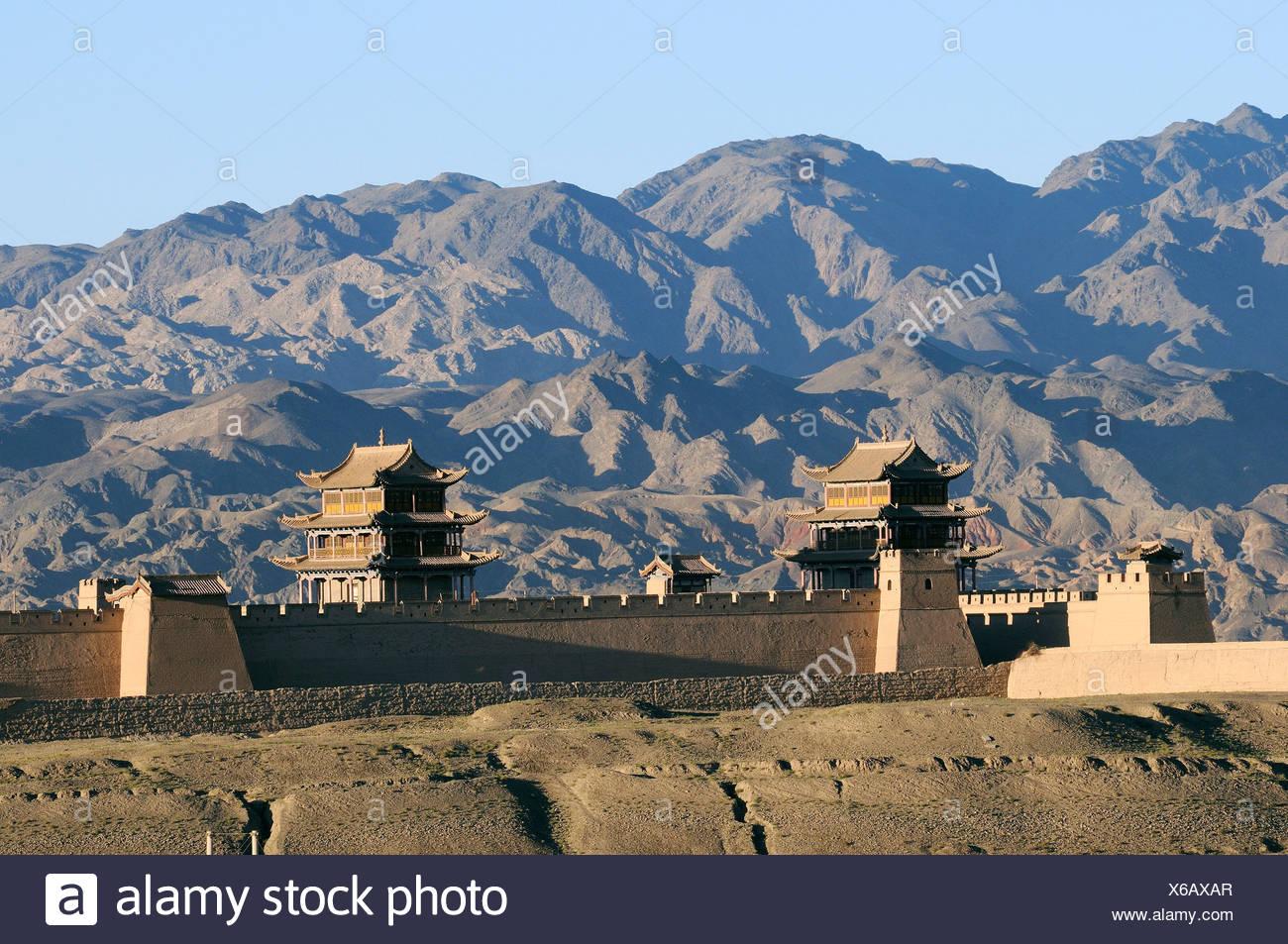 Fort Jiayuguan,Gansu province,China - Stock Image
