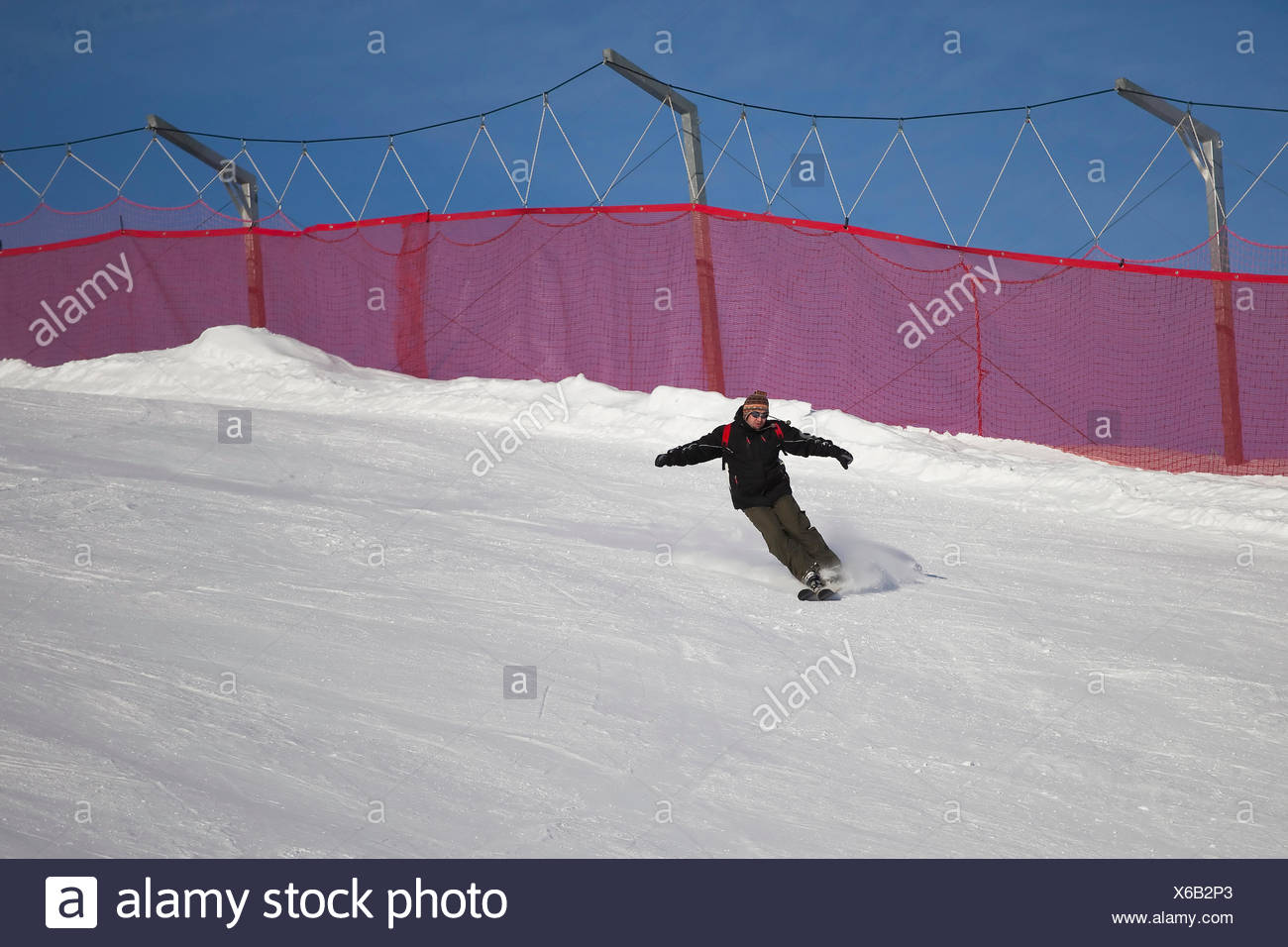 downhill - Stock Image