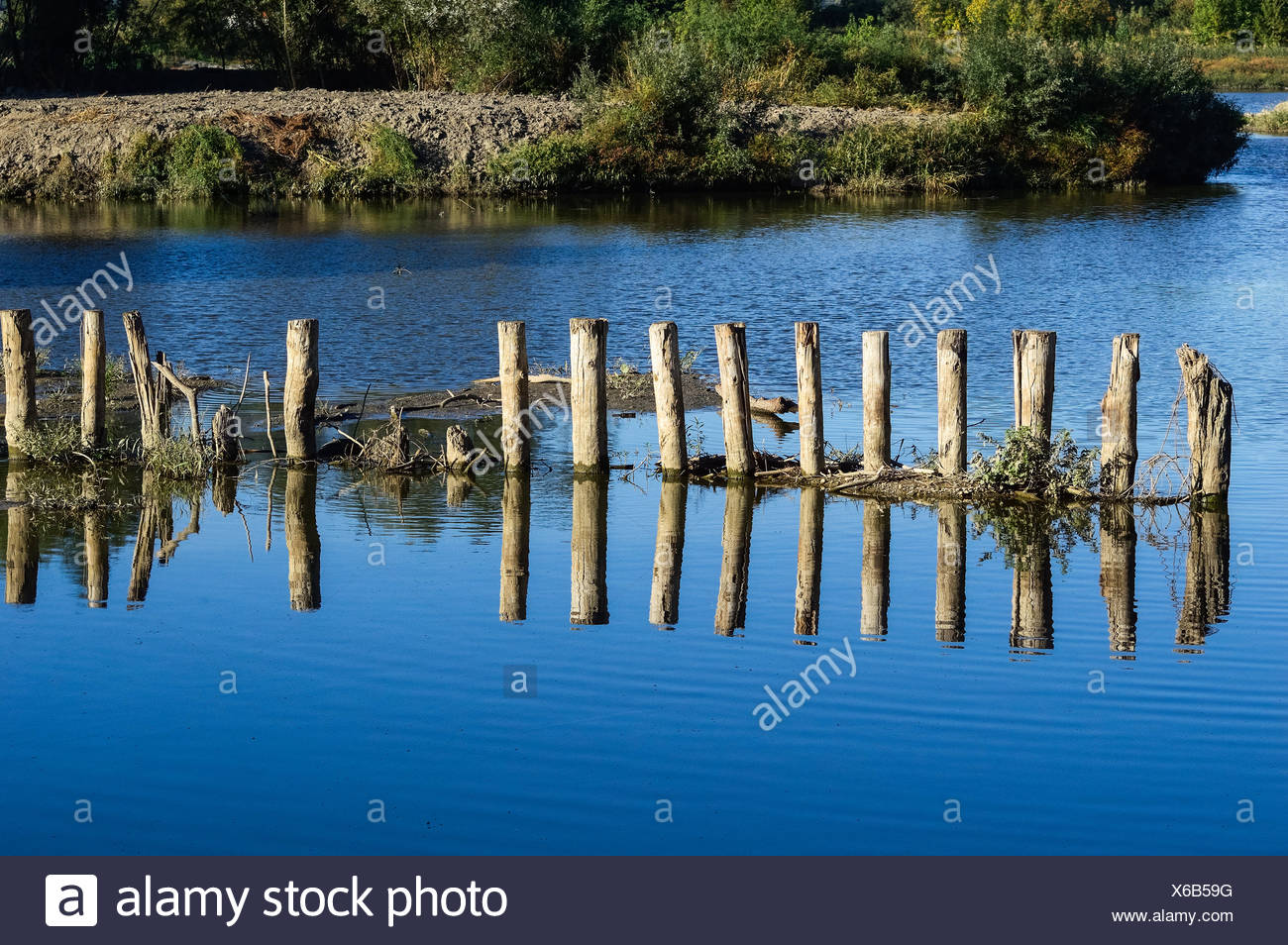 Lock and Who in the waterway - Stock Image