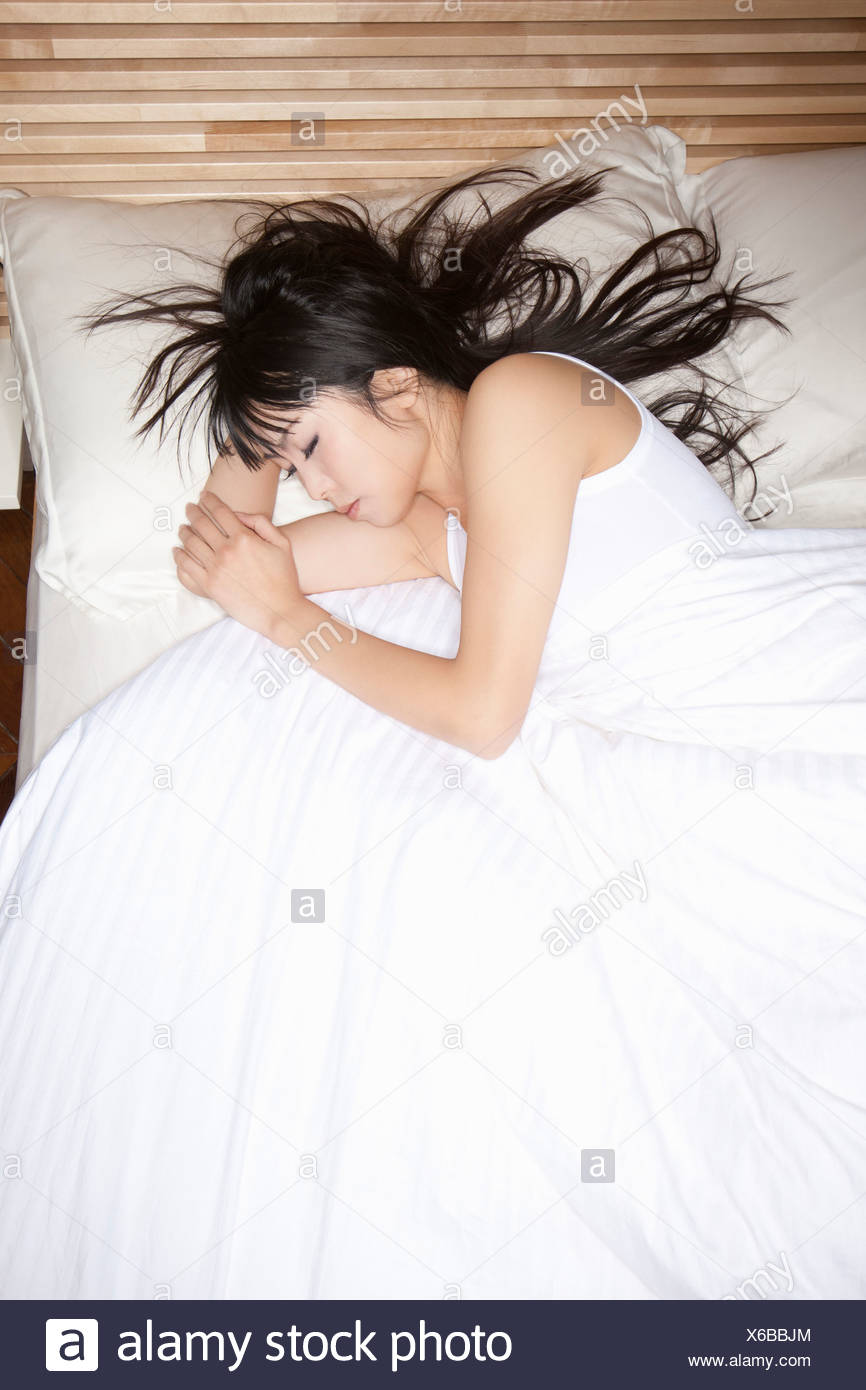 Young Asian Woman Sleeping Head Stock Photos & Young Asian Woman