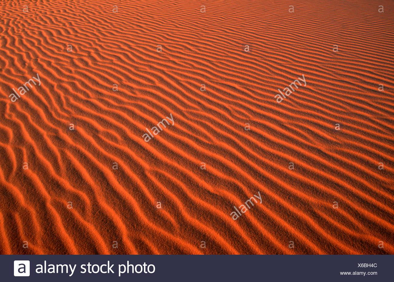 Sand Structures, Sahara, Erg Murzuk, Lybia - Stock Image
