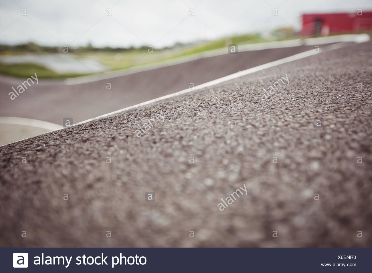 Surface of road in skatepark - Stock Image