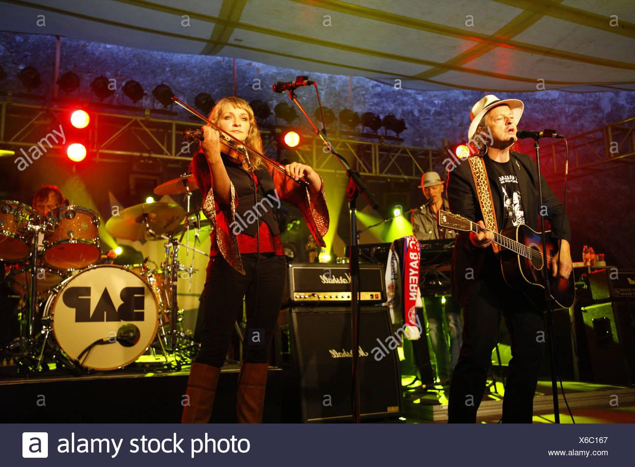 BAP, Cologne rock band, open air concert, Muehldorf am Inn, Bavaria, Germany Stock Photo