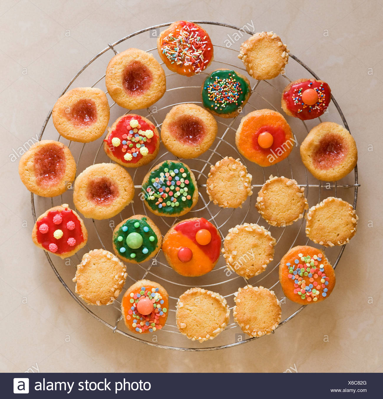 Round Colourful Christmas Cookies Stock Photo 279323592 Alamy