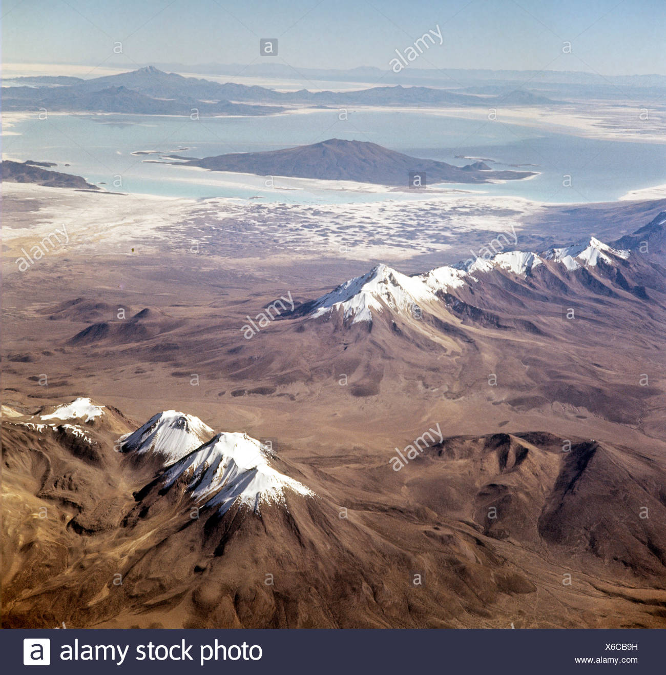 Southern Altiplano, salt and natron lakes, Bolivia - Stock Image