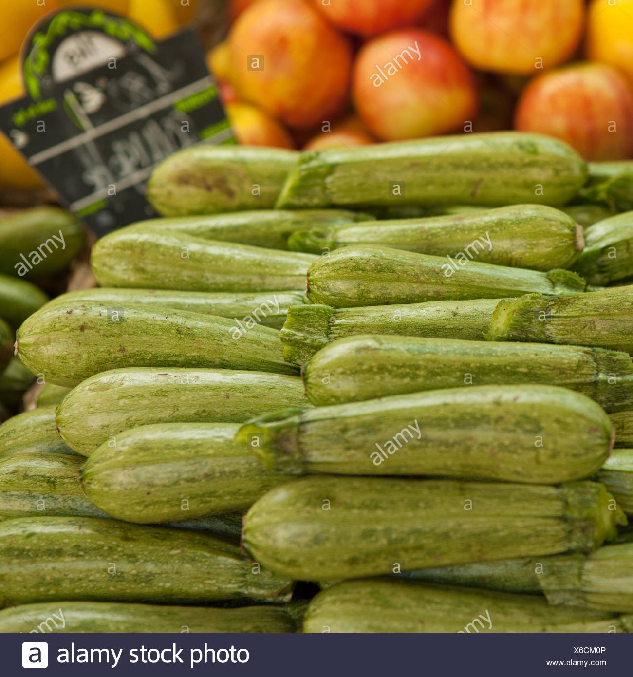 Close-Up Of Gourds At Market Stall - Stock Image