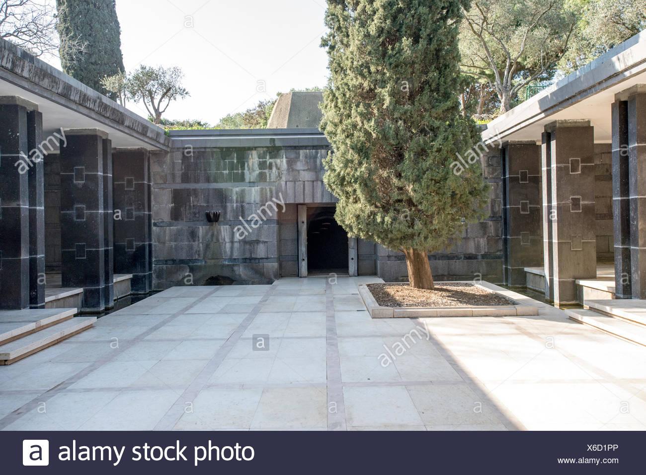 Rothschild family tomb, Israel, Mount Carmel, Ramat Hanadiv gardens near Zichron Ya'acov - Stock Image