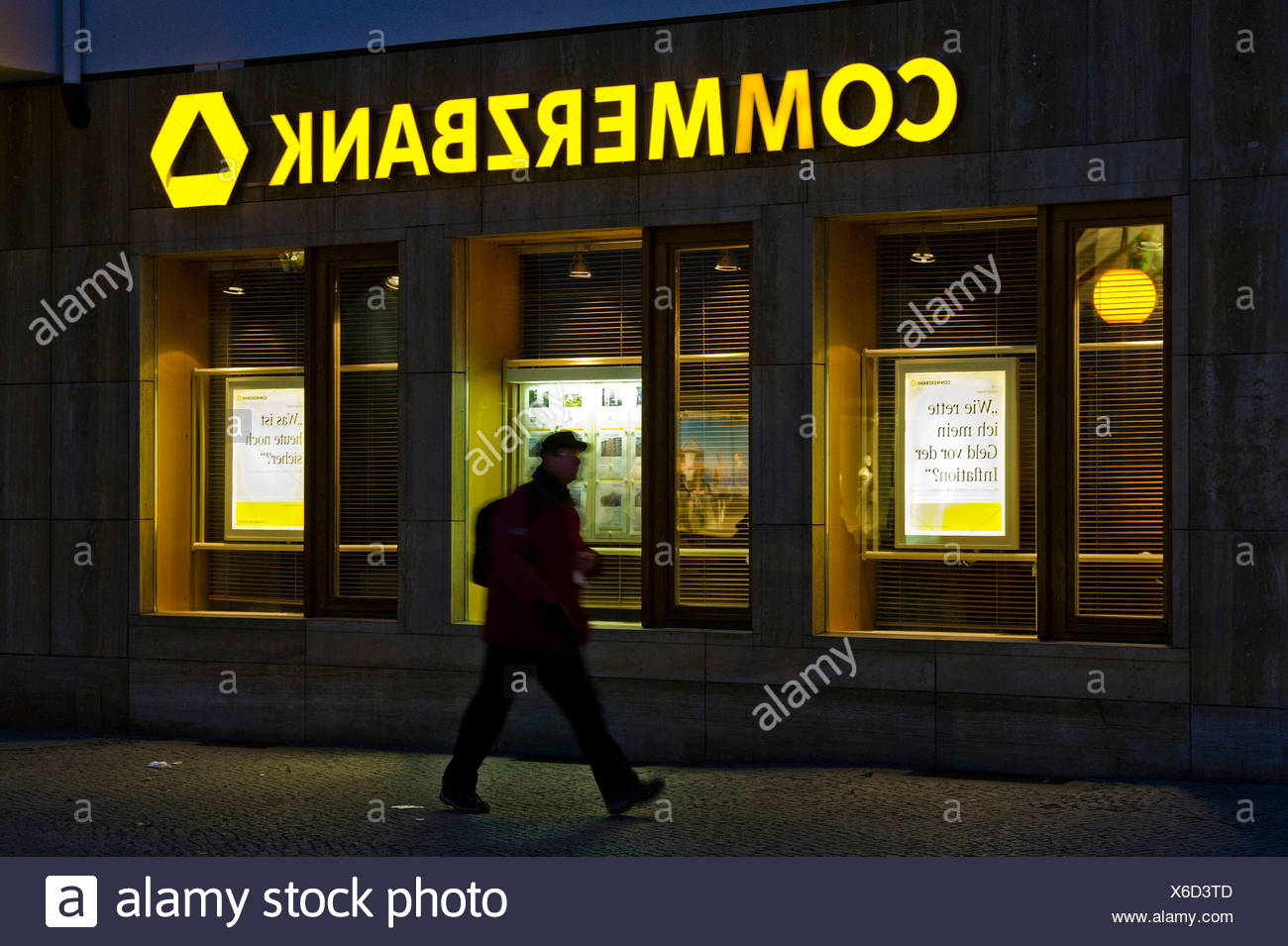 Commerzbank branch - Stock Image