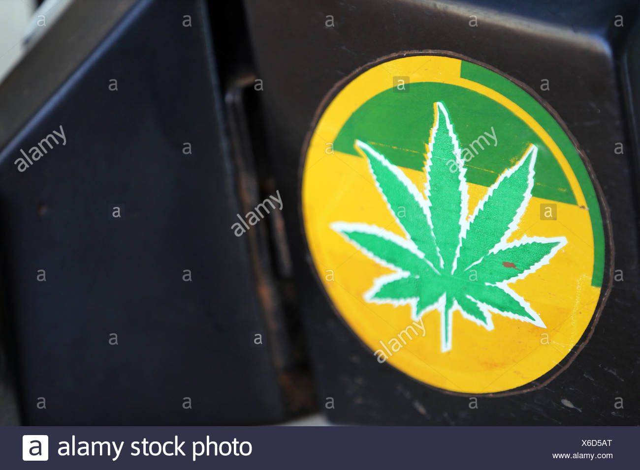 Marijuna sticker. togoville. togo. - Stock Image