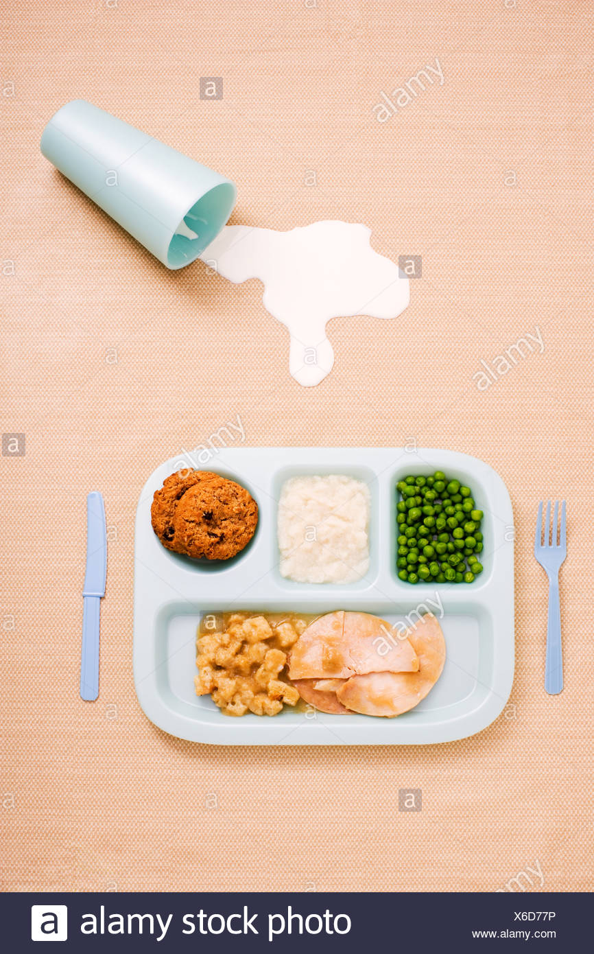 A childs dinner - Stock Image