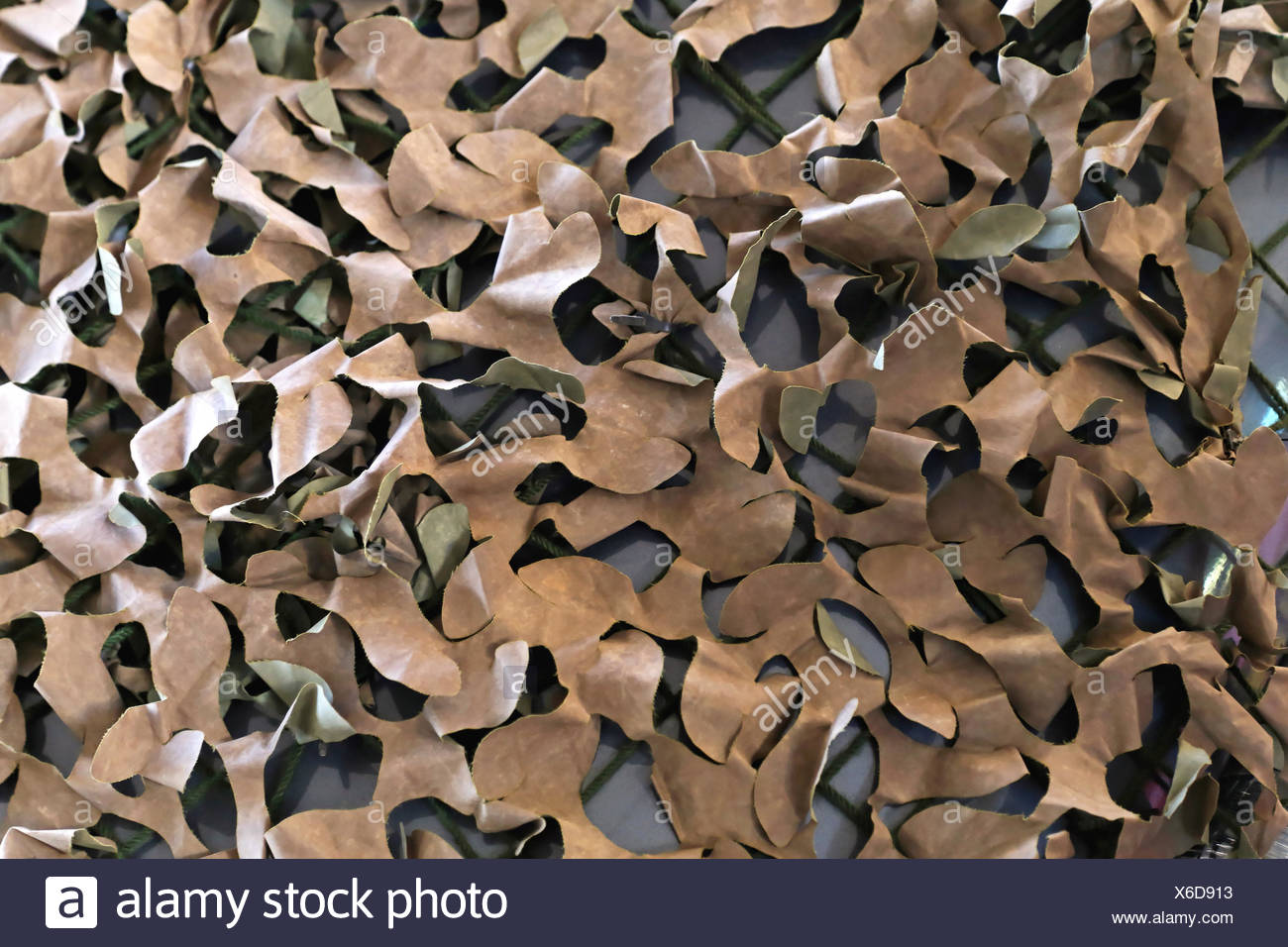 Camouflage netting for hunting or military use - Stock Image