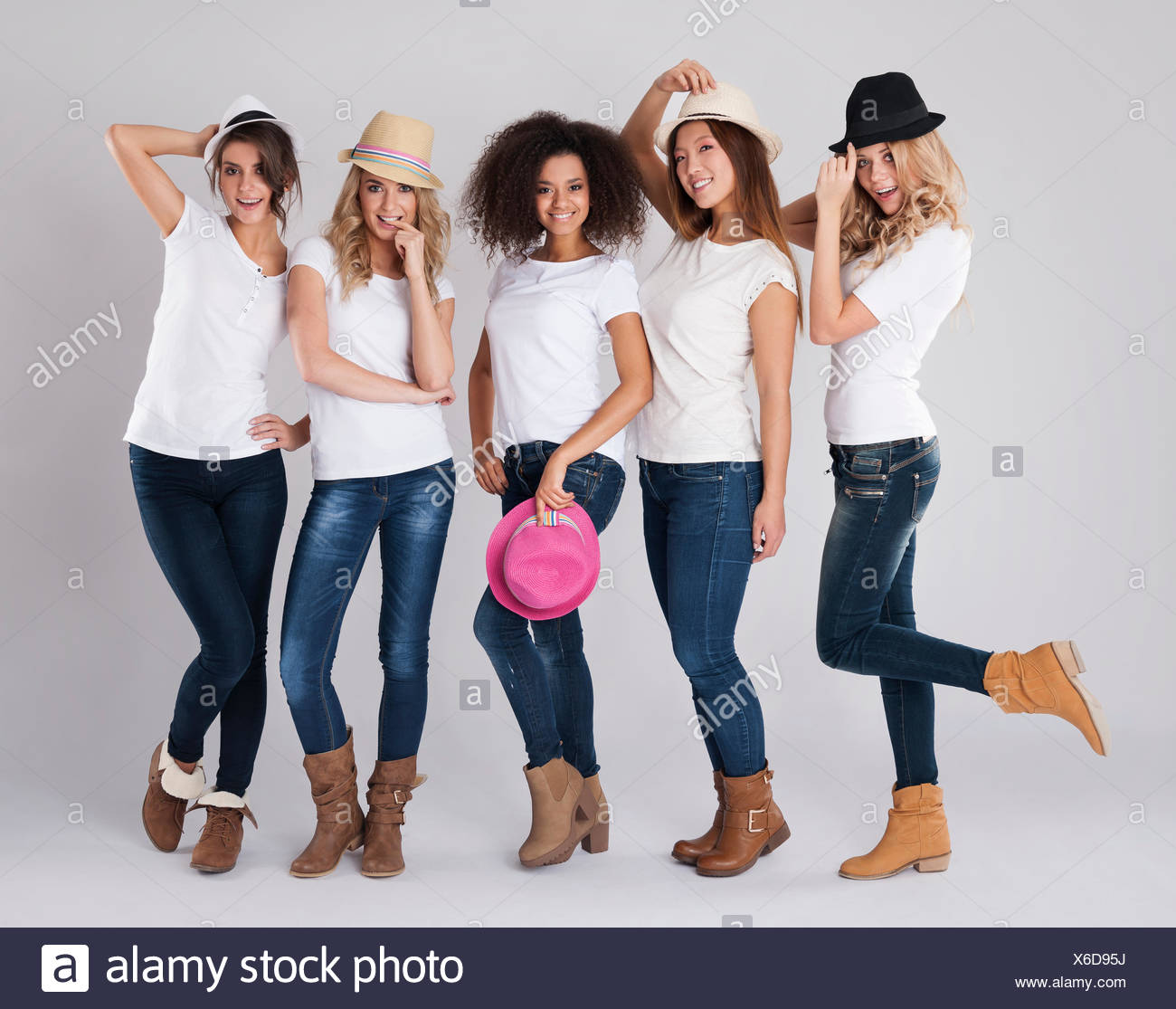 What kind of hat is fashionable this season? Debica, Poland - Stock Image