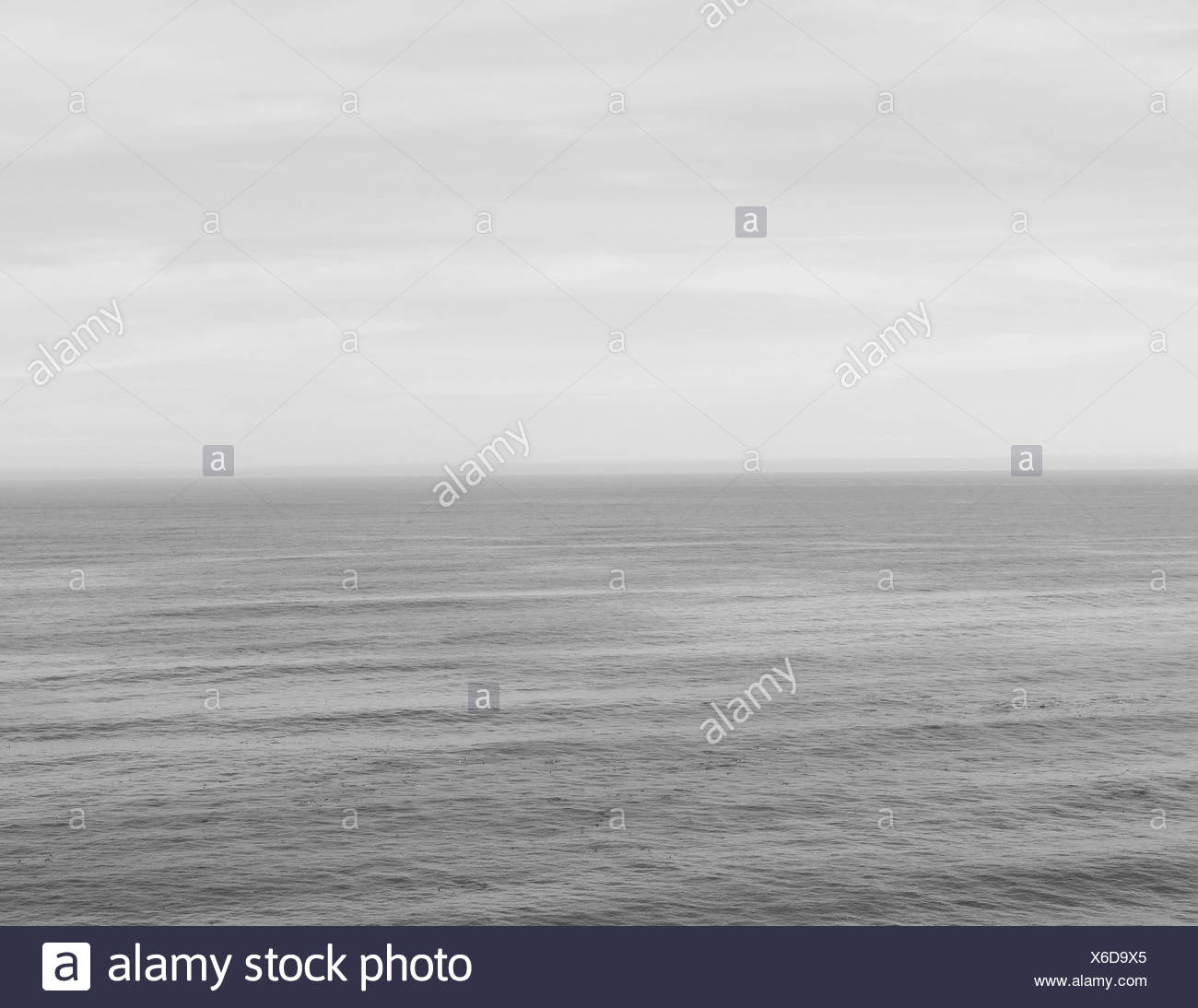 The ocean meets the sky off the coast of California at  Big Sur. Stock Photo