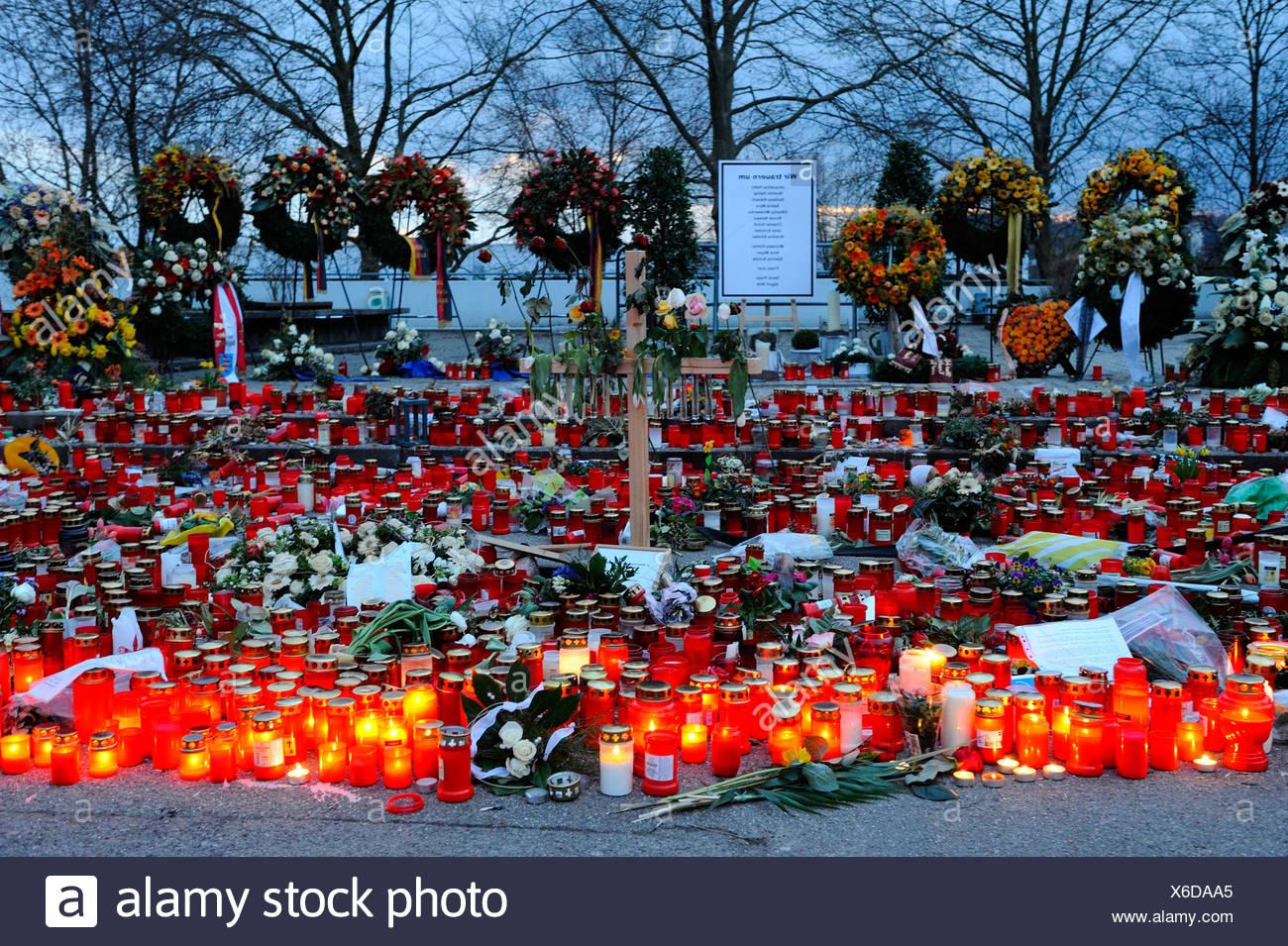 Killing spree, Albertville Realschule school, memorial site, Winnenden, Baden-Wuerttemberg, Germany, Europe - Stock Image