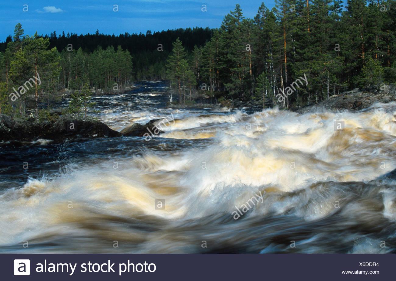 rapids in the river Vanan, Sweden, Dalarna Stock Photo