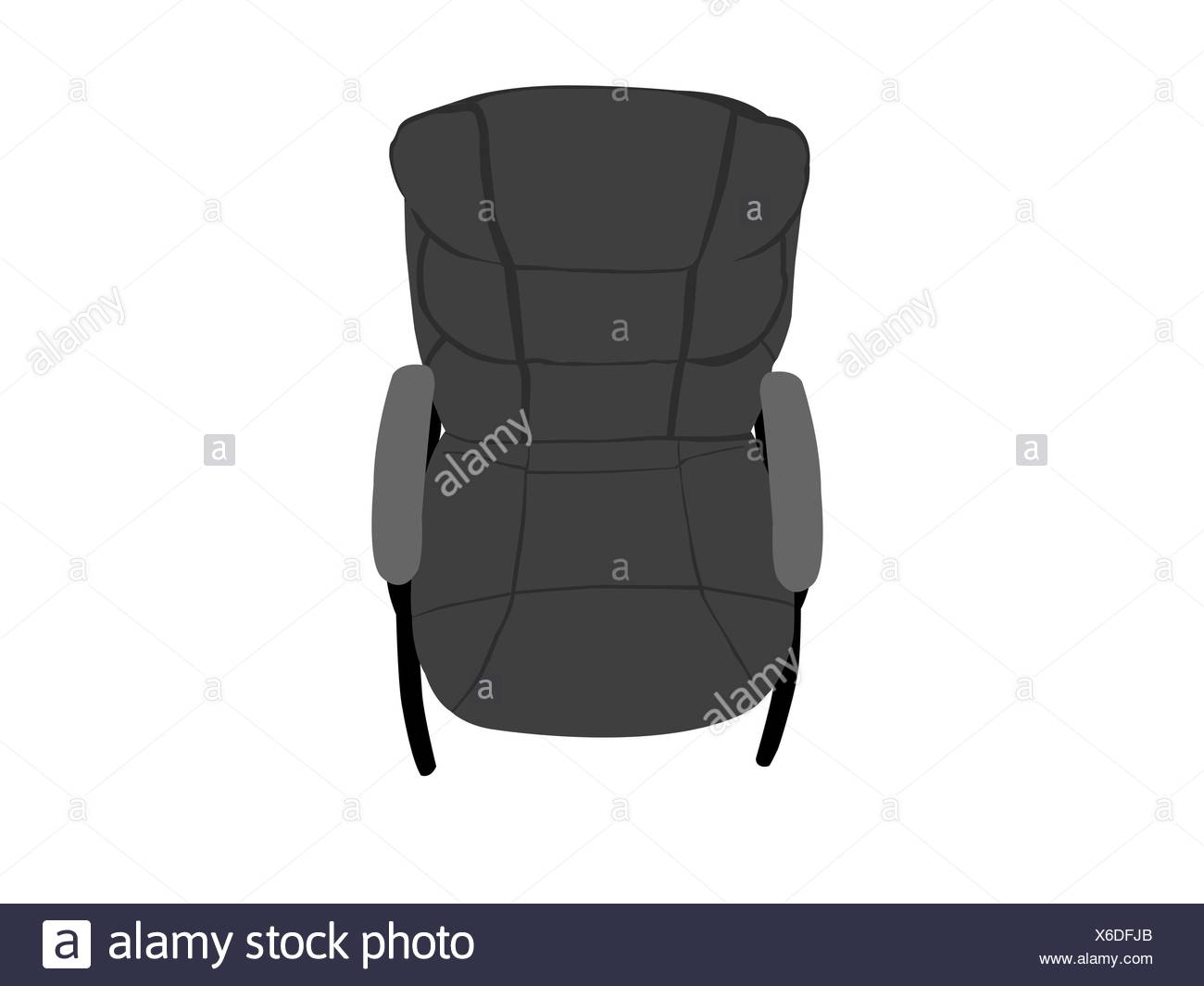 leather chair - Stock Image